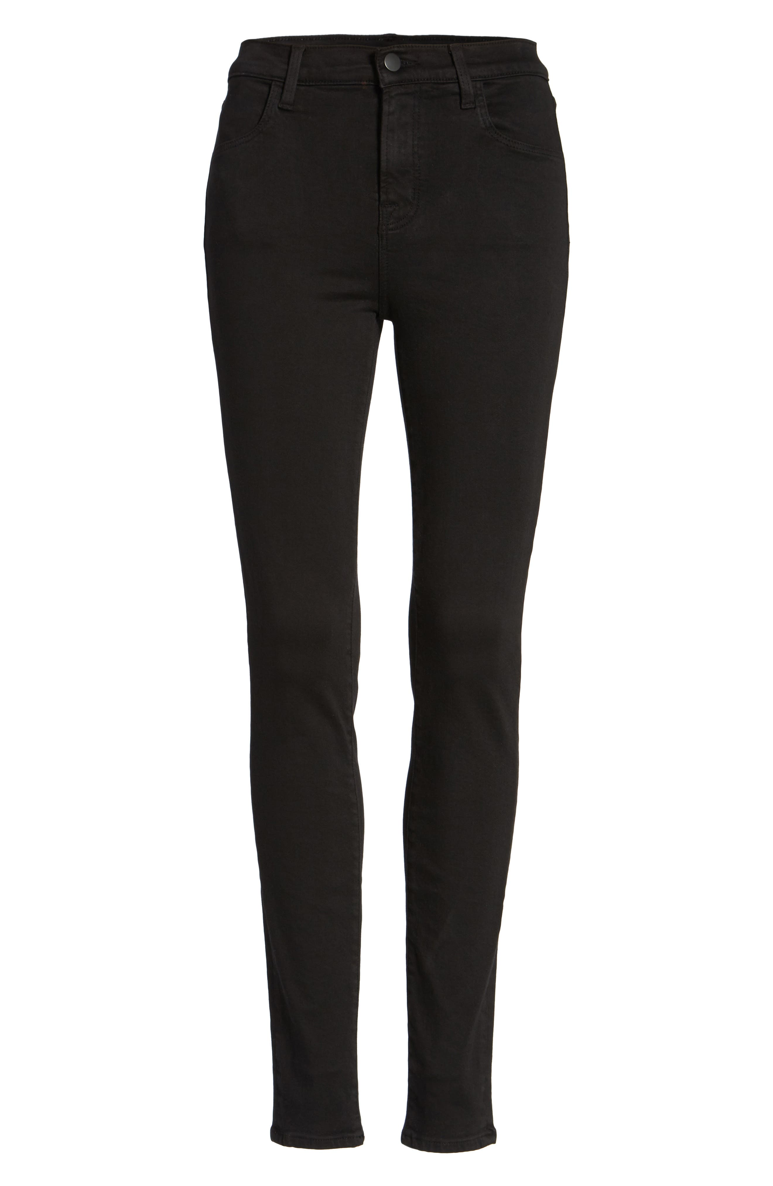 Maria High Waist Skinny Jeans,                             Alternate thumbnail 7, color,                             BLACK