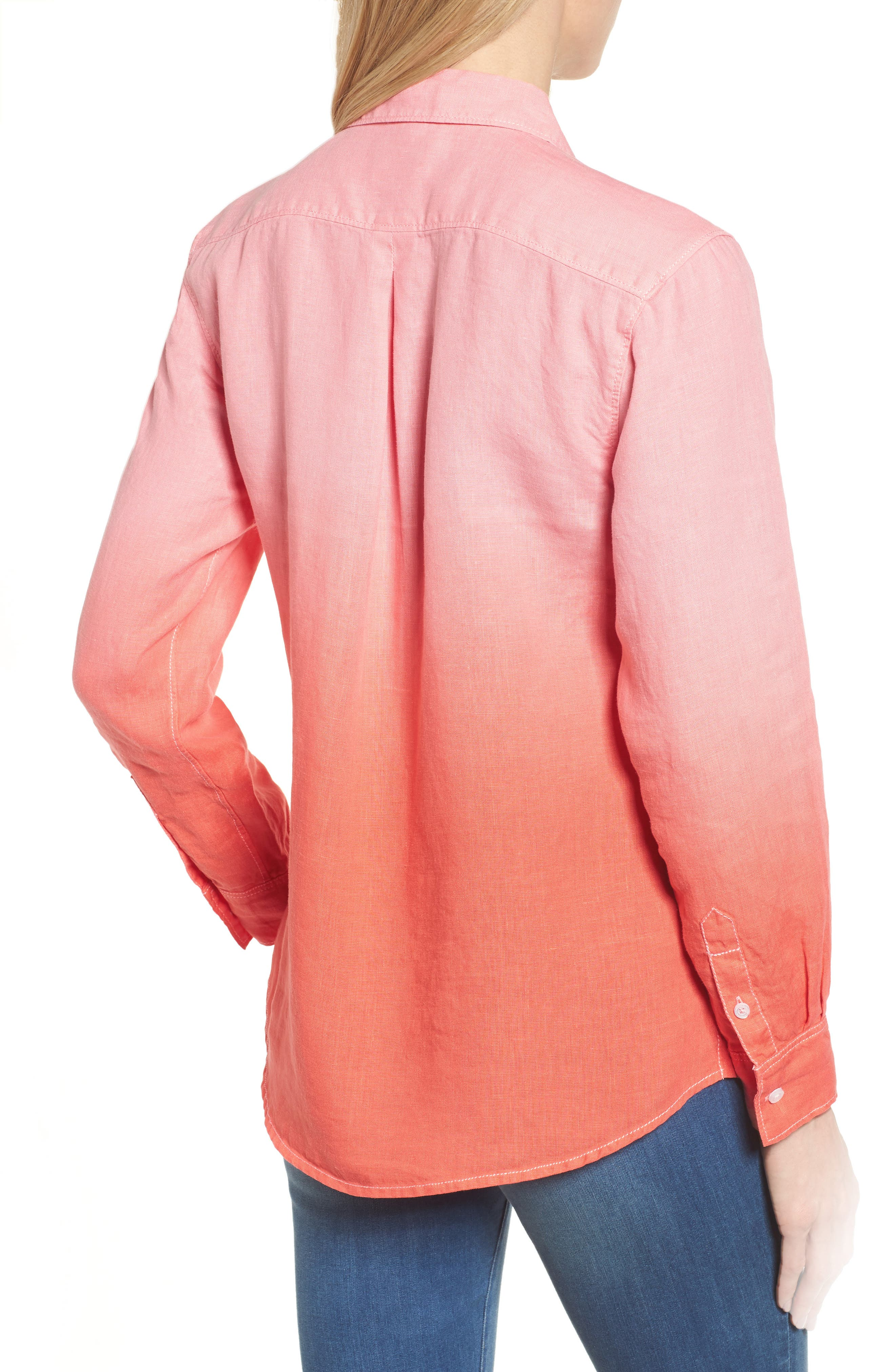 Two Palms Dip Dye Top,                             Alternate thumbnail 2, color,                             CABANA PINK/ BURNT CORAL