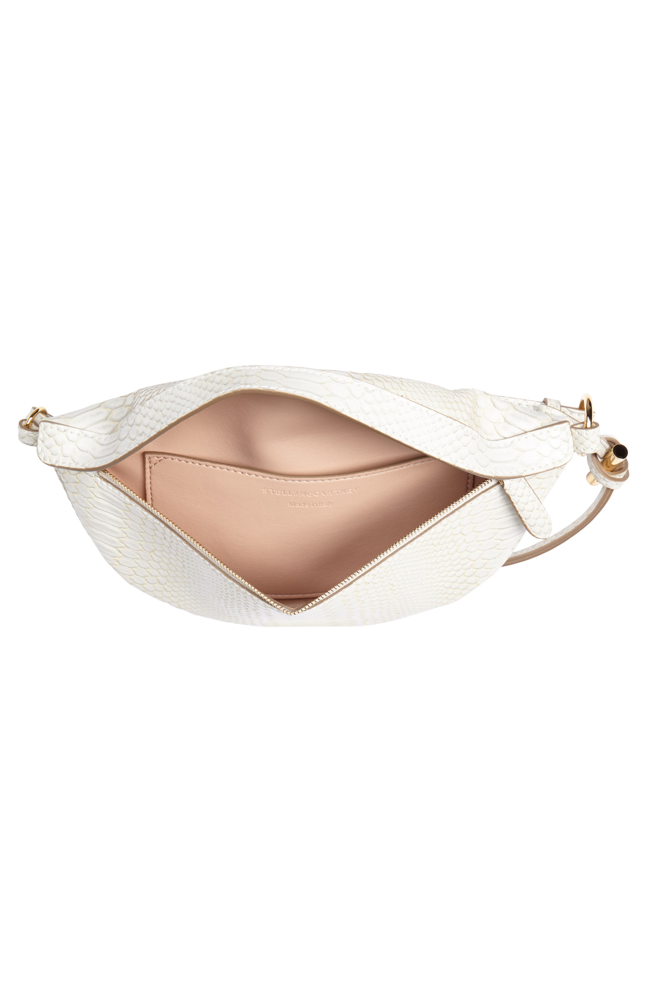 Alter Snake Faux Leather Fanny Pack,                             Alternate thumbnail 5, color,                             IVORY
