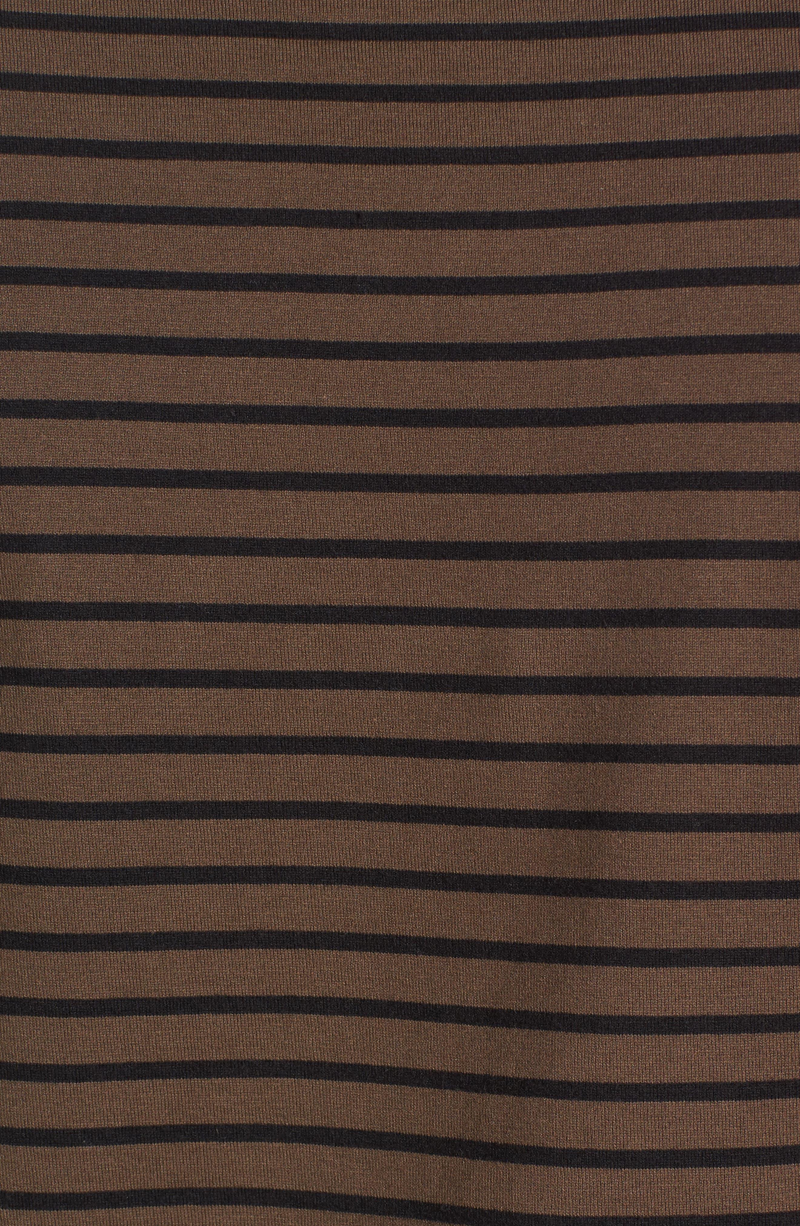 Narrow Stripe Pima Cotton T-Shirt,                             Alternate thumbnail 5, color,                             245