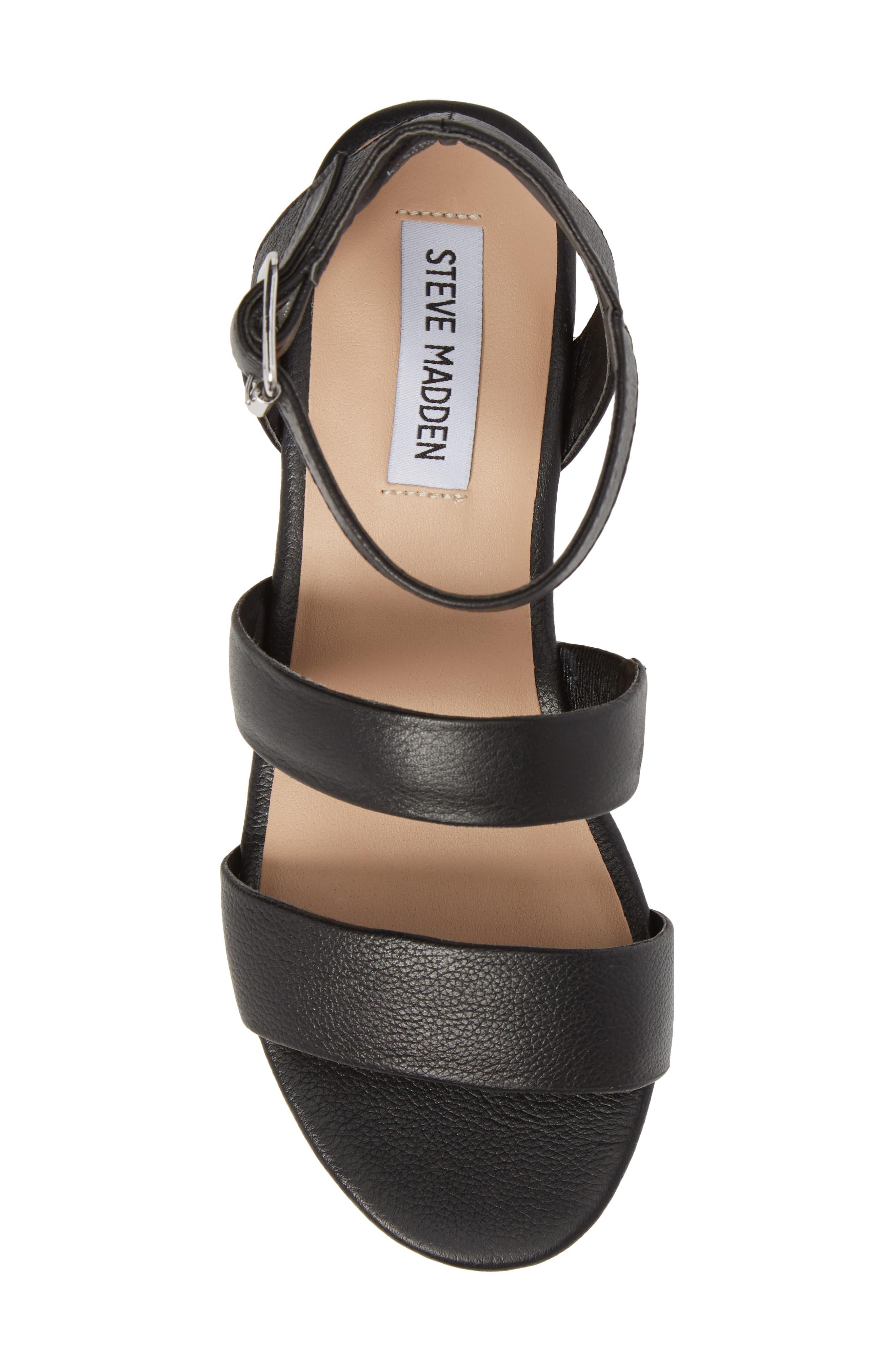 Kirsten Layered Platform Sandal,                             Alternate thumbnail 5, color,                             001