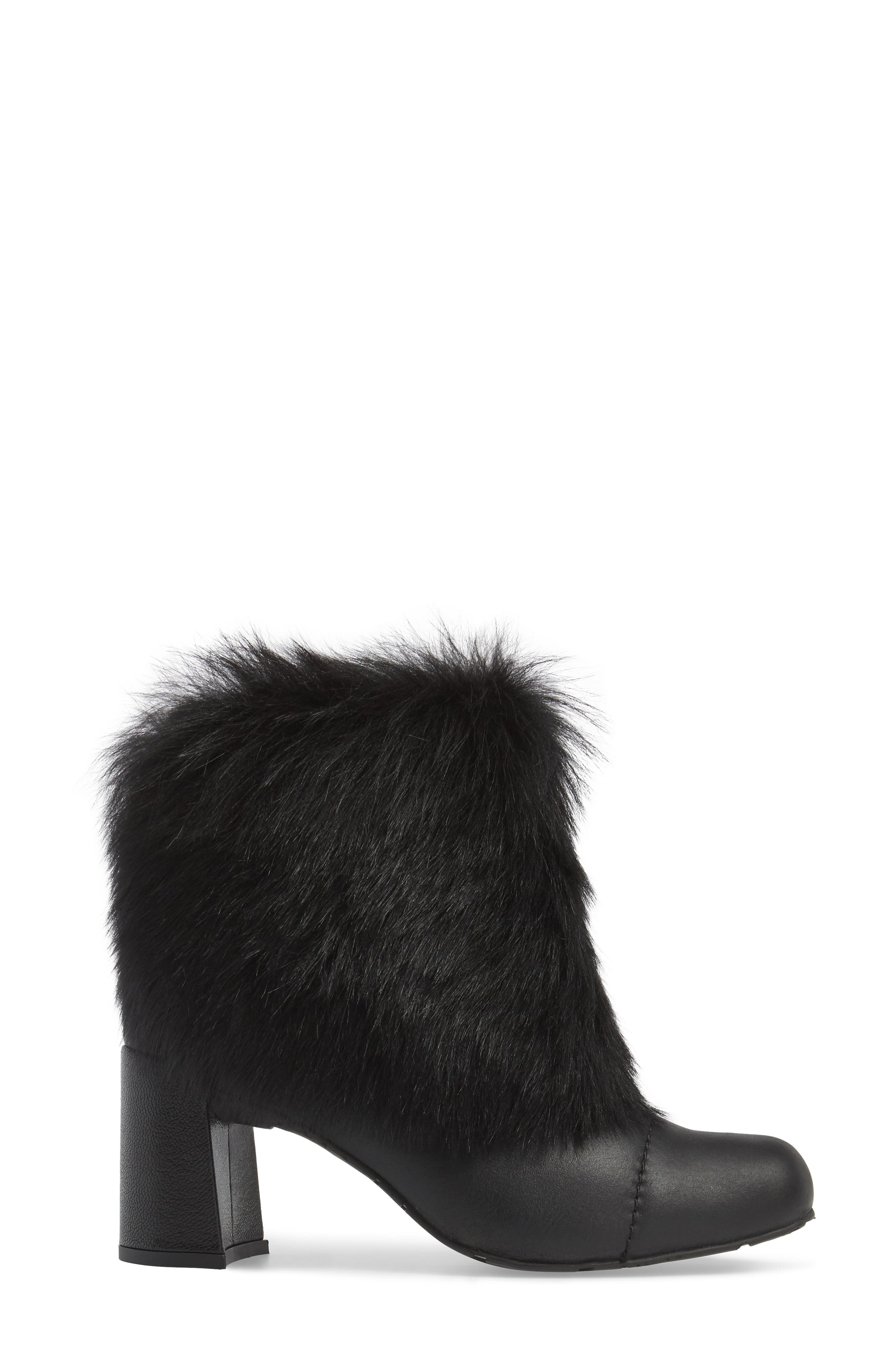 Woka Genuine Shearling Bootie,                             Alternate thumbnail 3, color,                             001