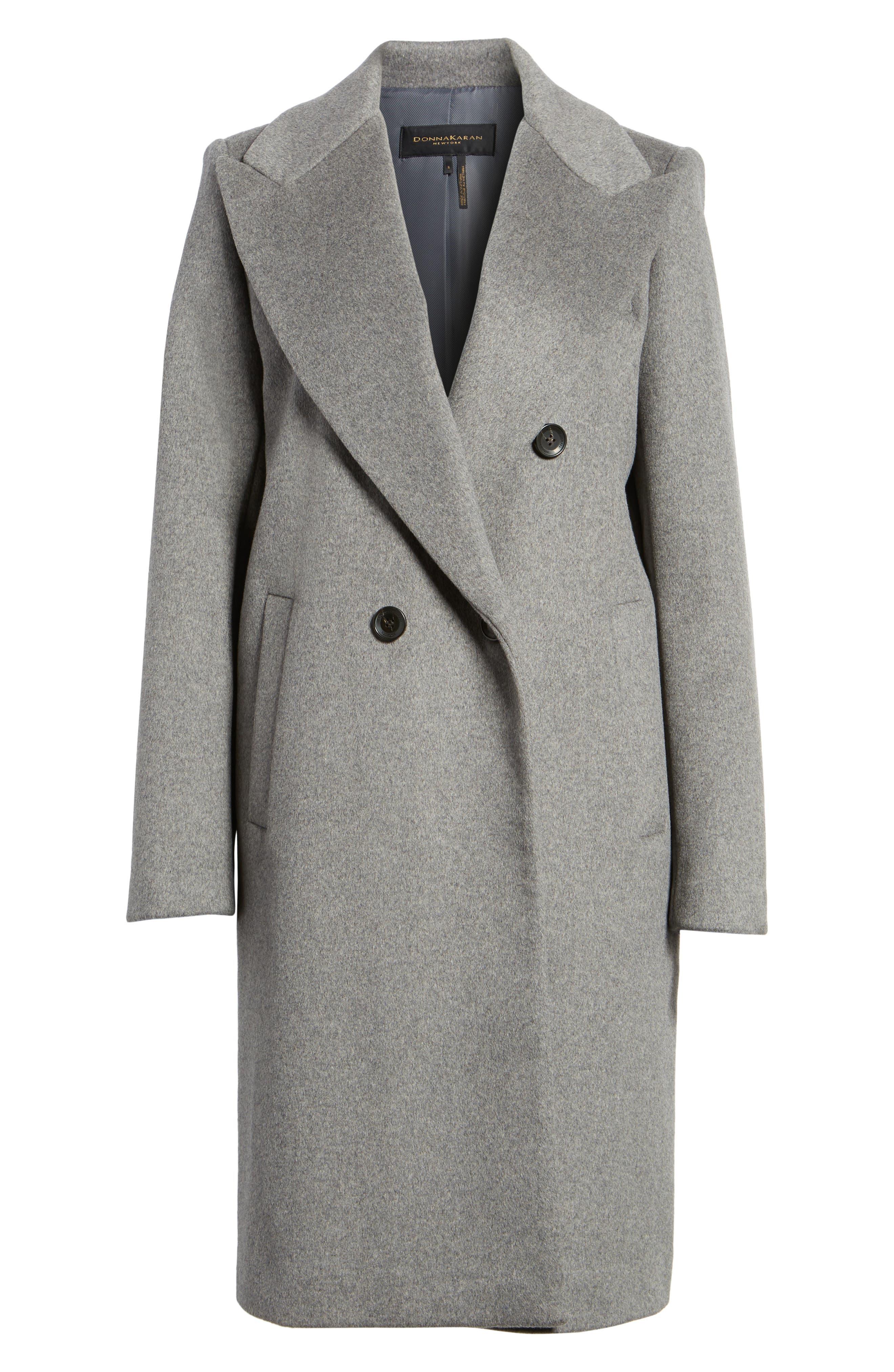 DKNY Lavish Wool Blend Coat,                             Alternate thumbnail 10, color,
