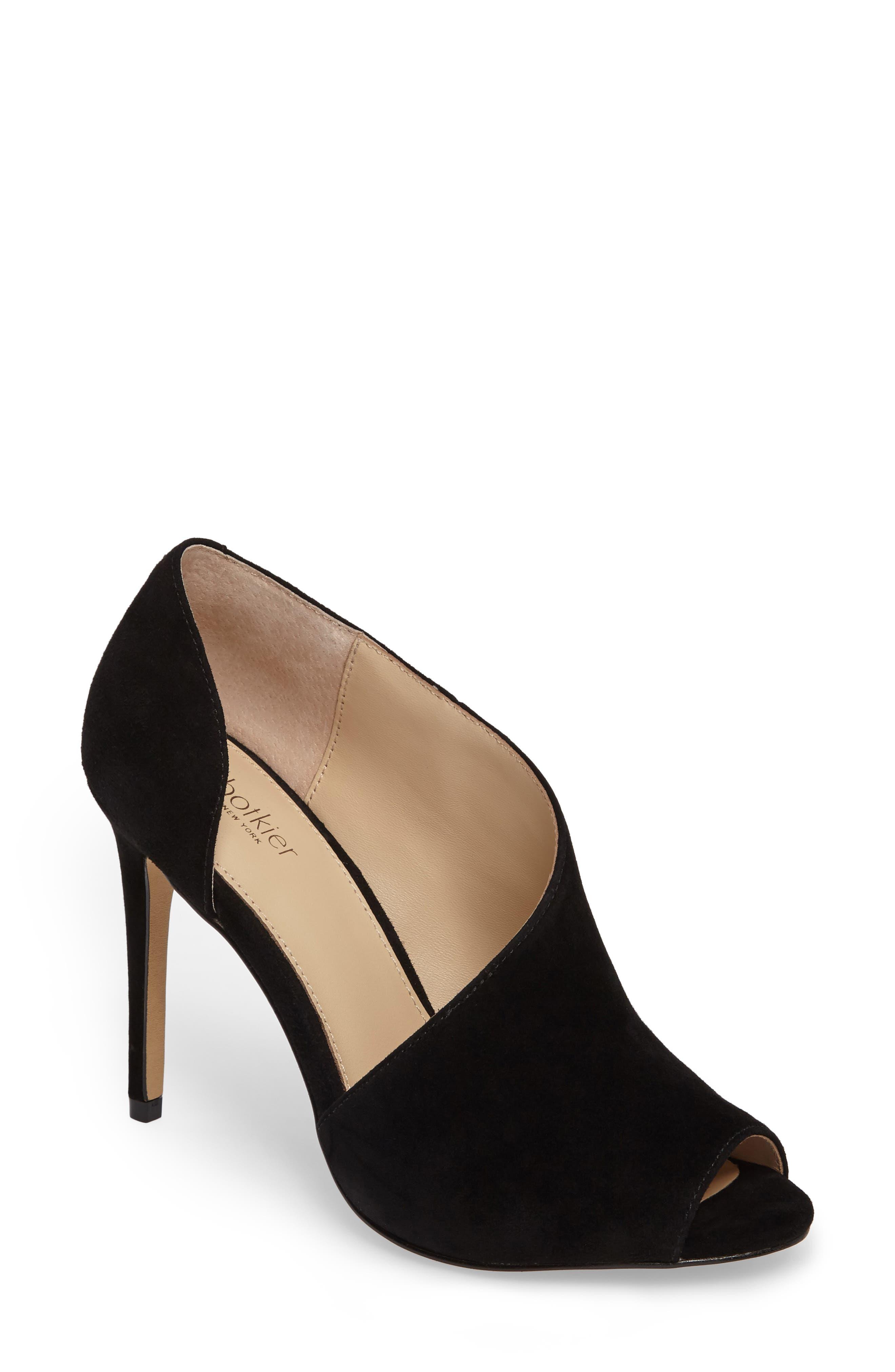 Adelia Asymmetrical Sandal,                         Main,                         color, BLACK