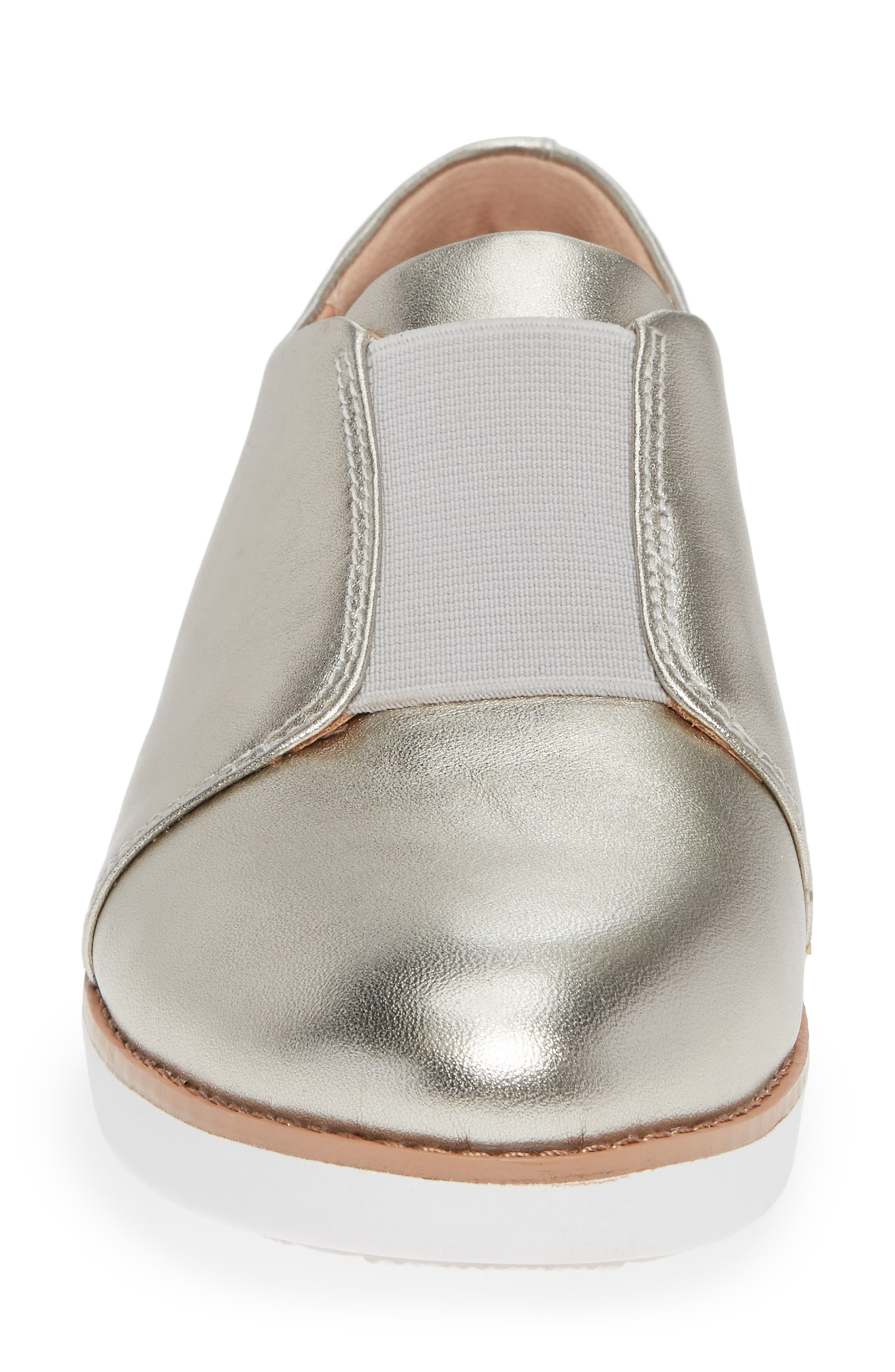 FITFLOP,                             Laceless Derby,                             Alternate thumbnail 4, color,                             SILVER LEATHER