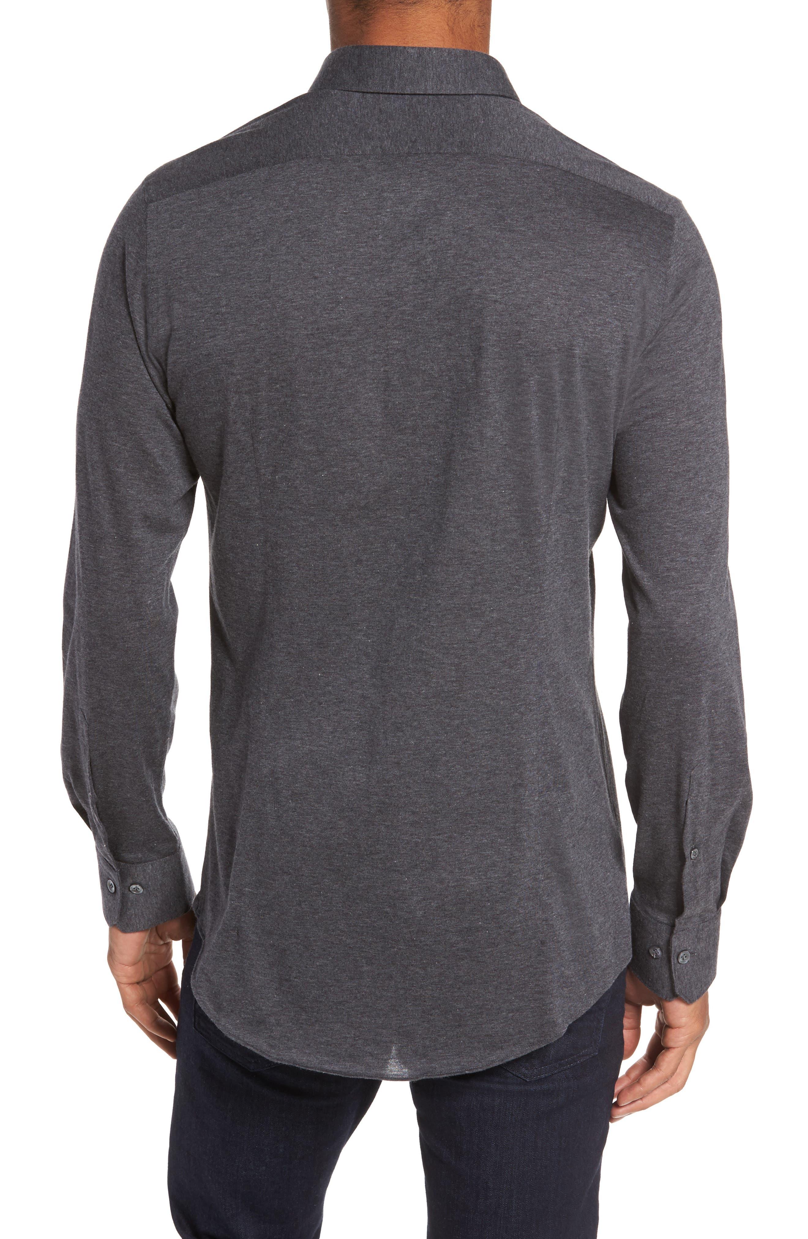 Slim Fit Jersey Sport Shirt,                             Alternate thumbnail 2, color,                             021