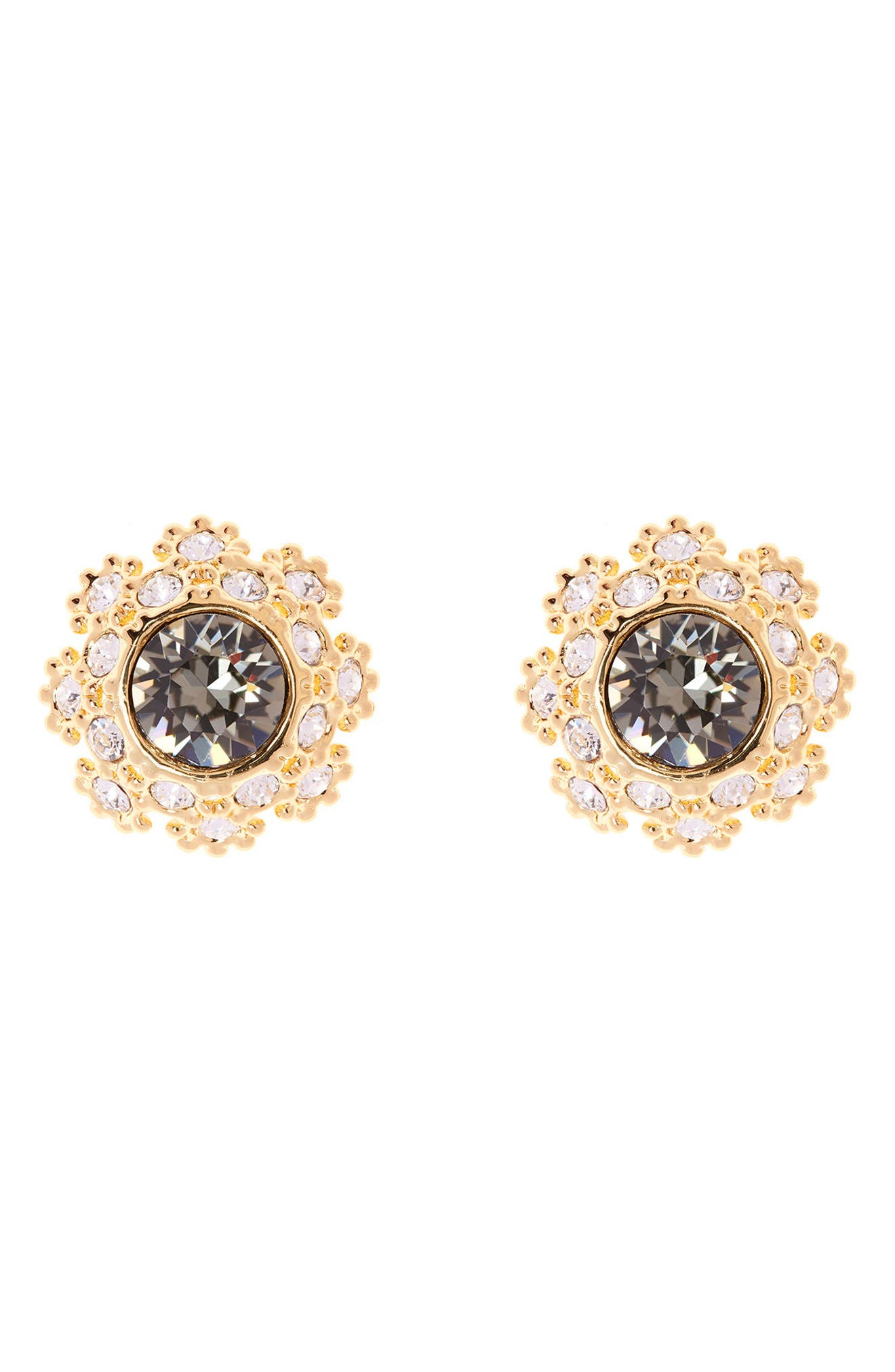 Crystal Daisy Lace Stud Earrings,                         Main,                         color,