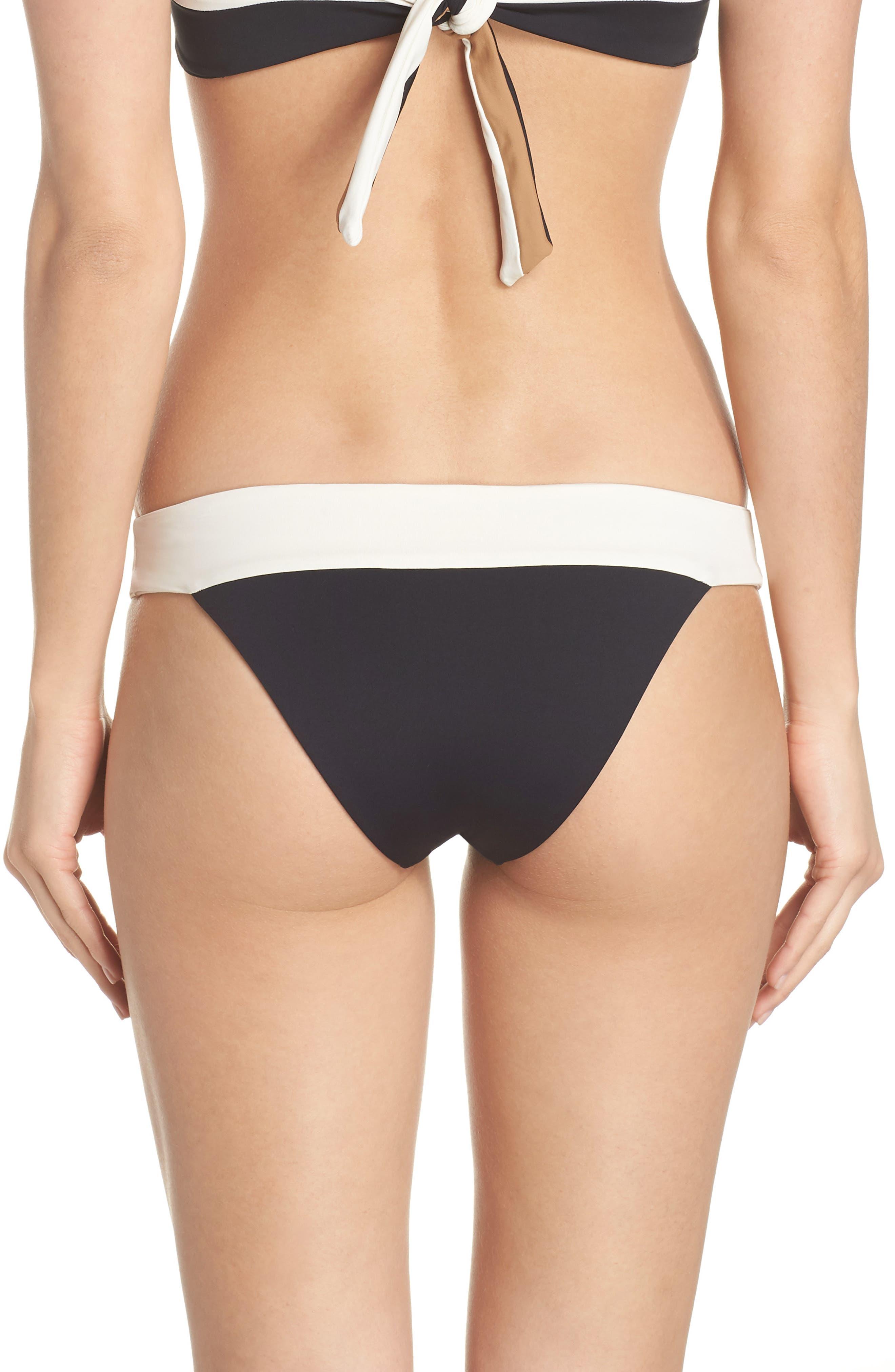 Reversible Bikini Bottom,                             Alternate thumbnail 2, color,                             CREAM/ BLACK/ CAMEL