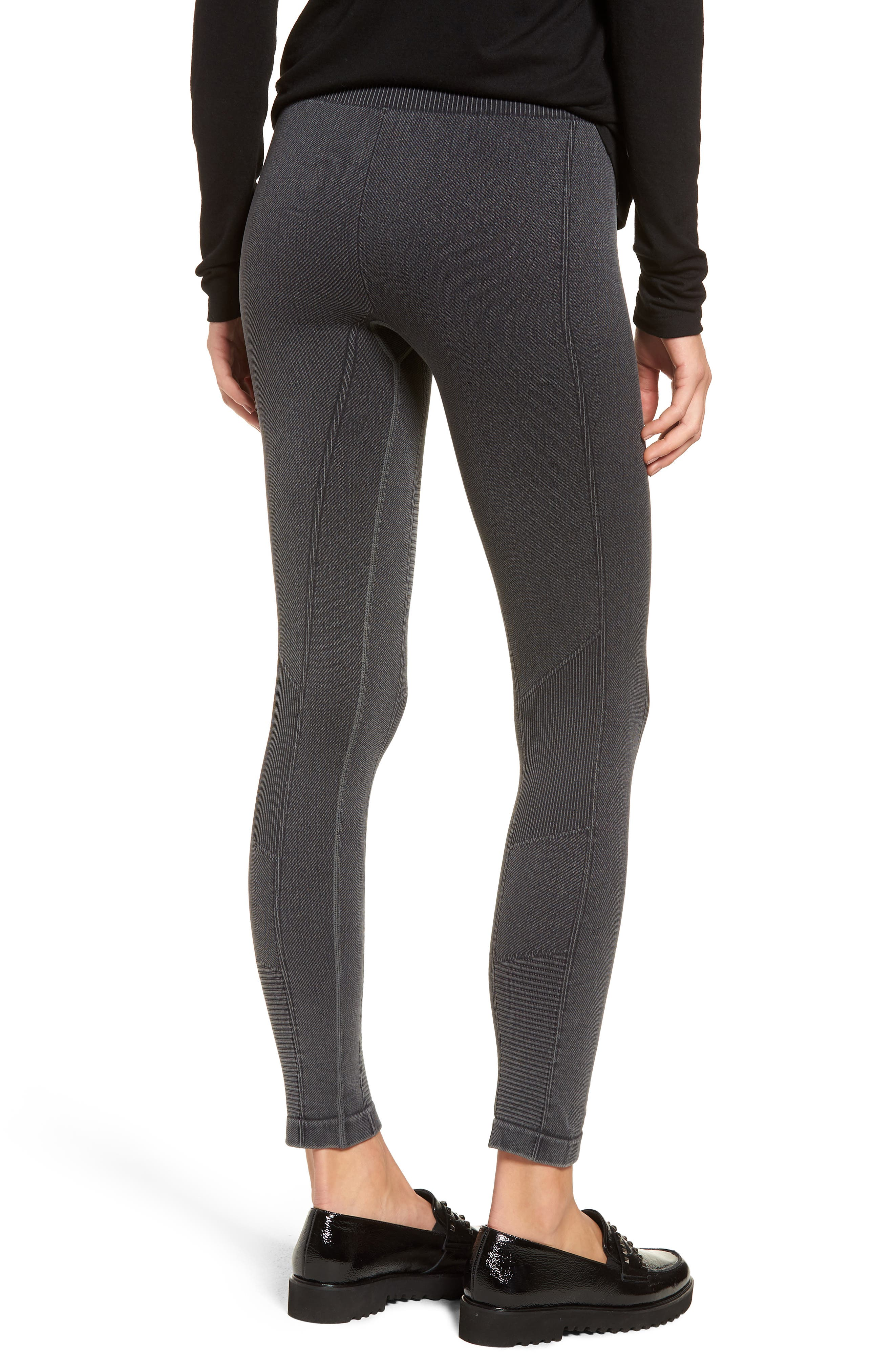 Washed Moto Seamless Skimmer Leggings,                             Alternate thumbnail 2, color,                             001