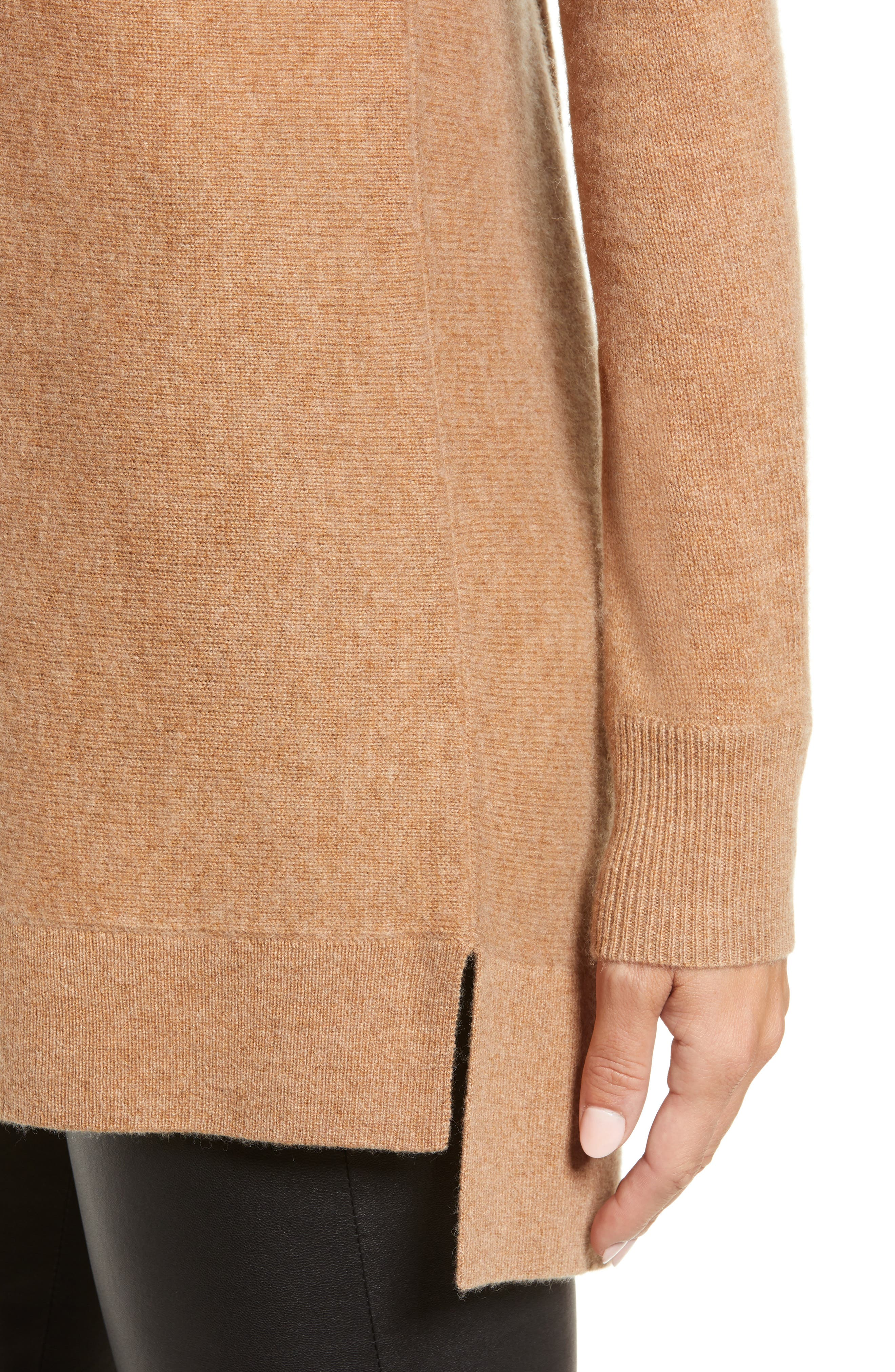 High/Low Wool & Cashmere Tunic Sweater,                             Alternate thumbnail 76, color,