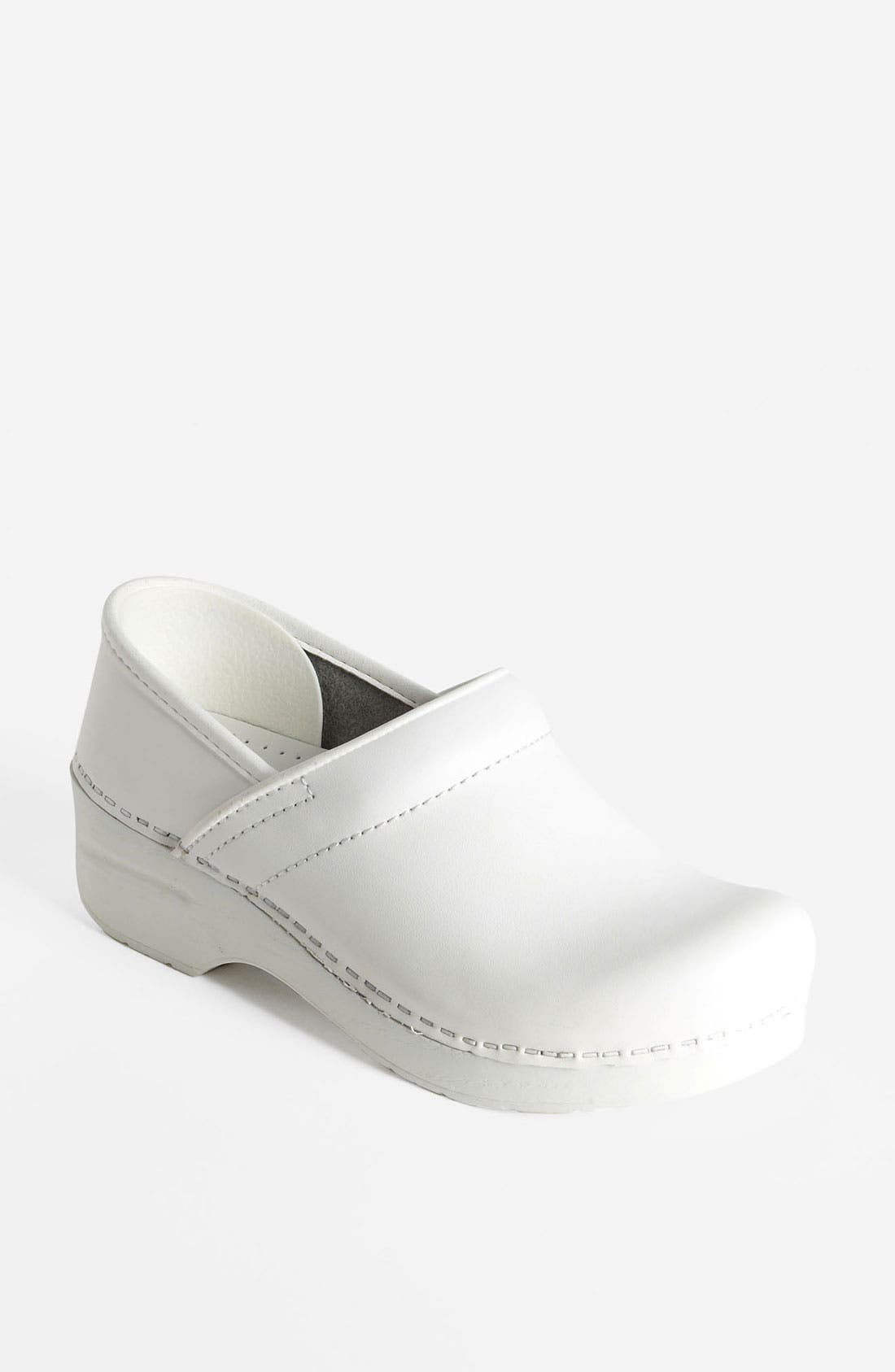 'Professional' Clog,                         Main,                         color, WHITE BOX
