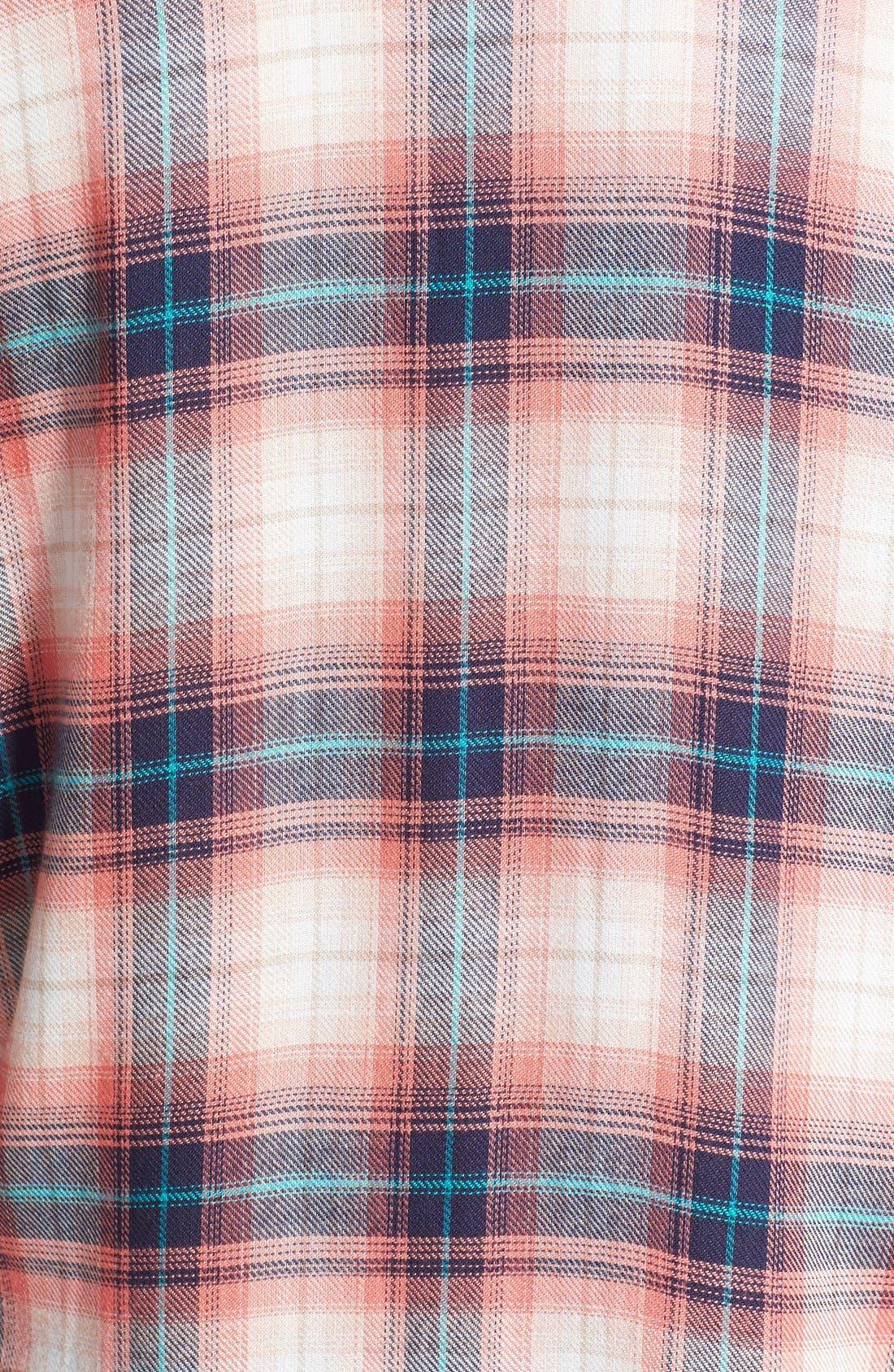Long Sleeve Plaid Blouse,                             Alternate thumbnail 17, color,