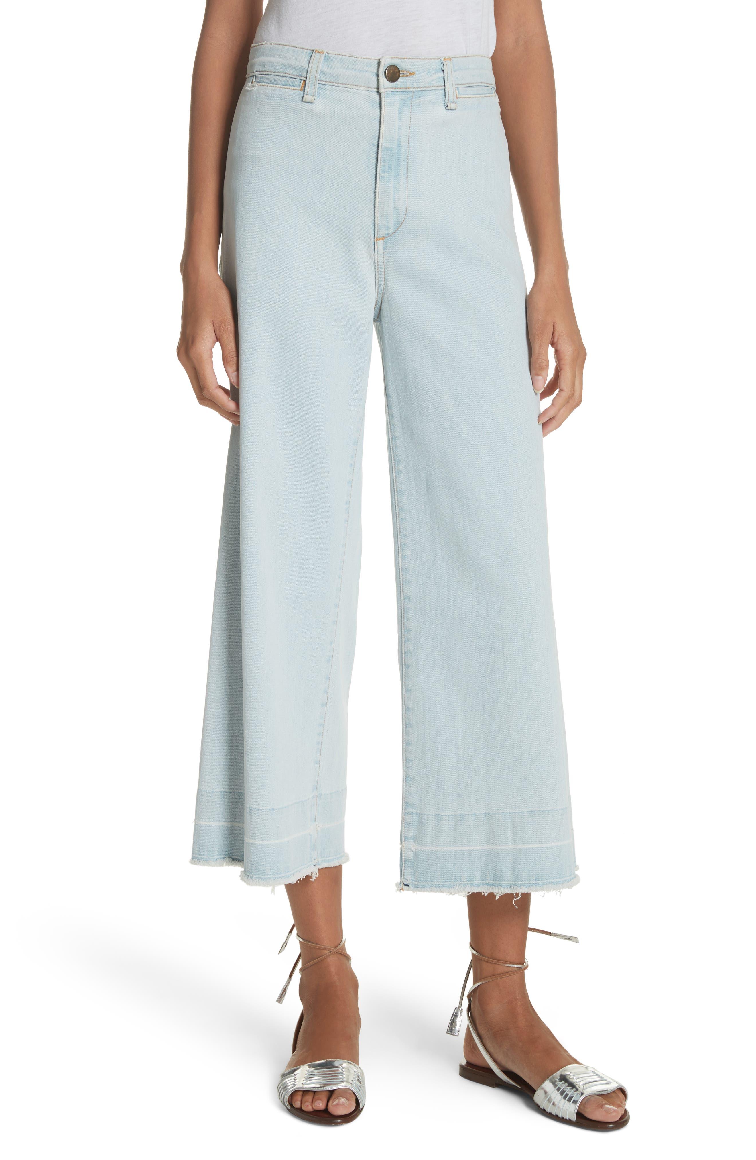 Ali High Waist Gaucho Jeans,                         Main,                         color, 400