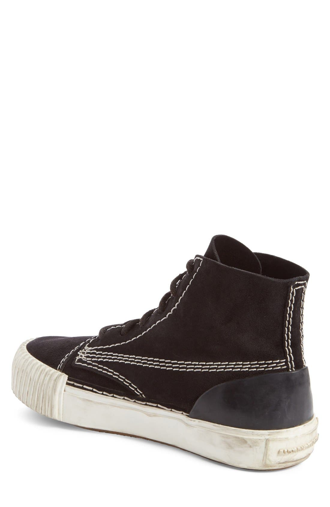 'Perry' Suede High Top Sneaker,                             Alternate thumbnail 8, color,                             001