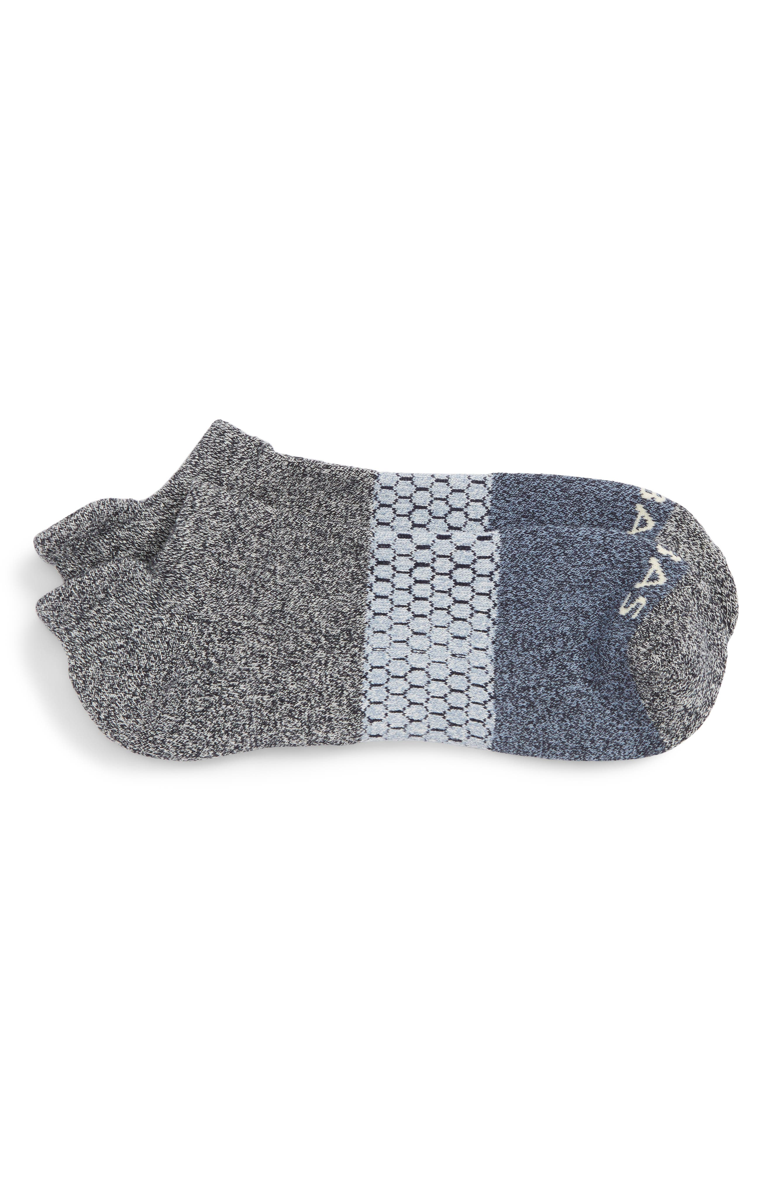 Colorblock Ankle Socks,                             Main thumbnail 1, color,                             MIDNIGHT/ SOFT BLUE/ GREY