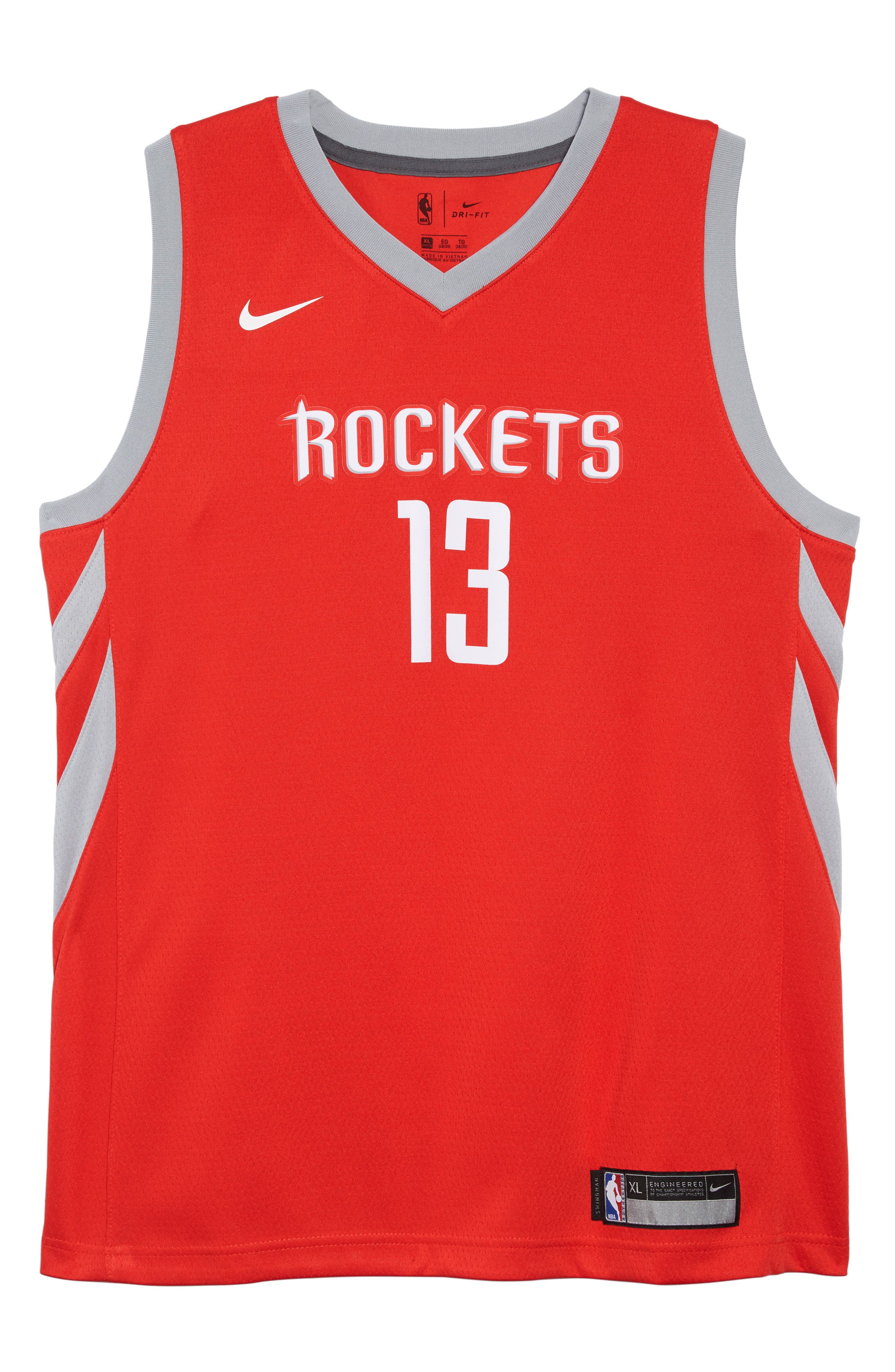 NBA Houston Rockets James Harden Basketball Jersey, Main, color, UNIVERSITY RED