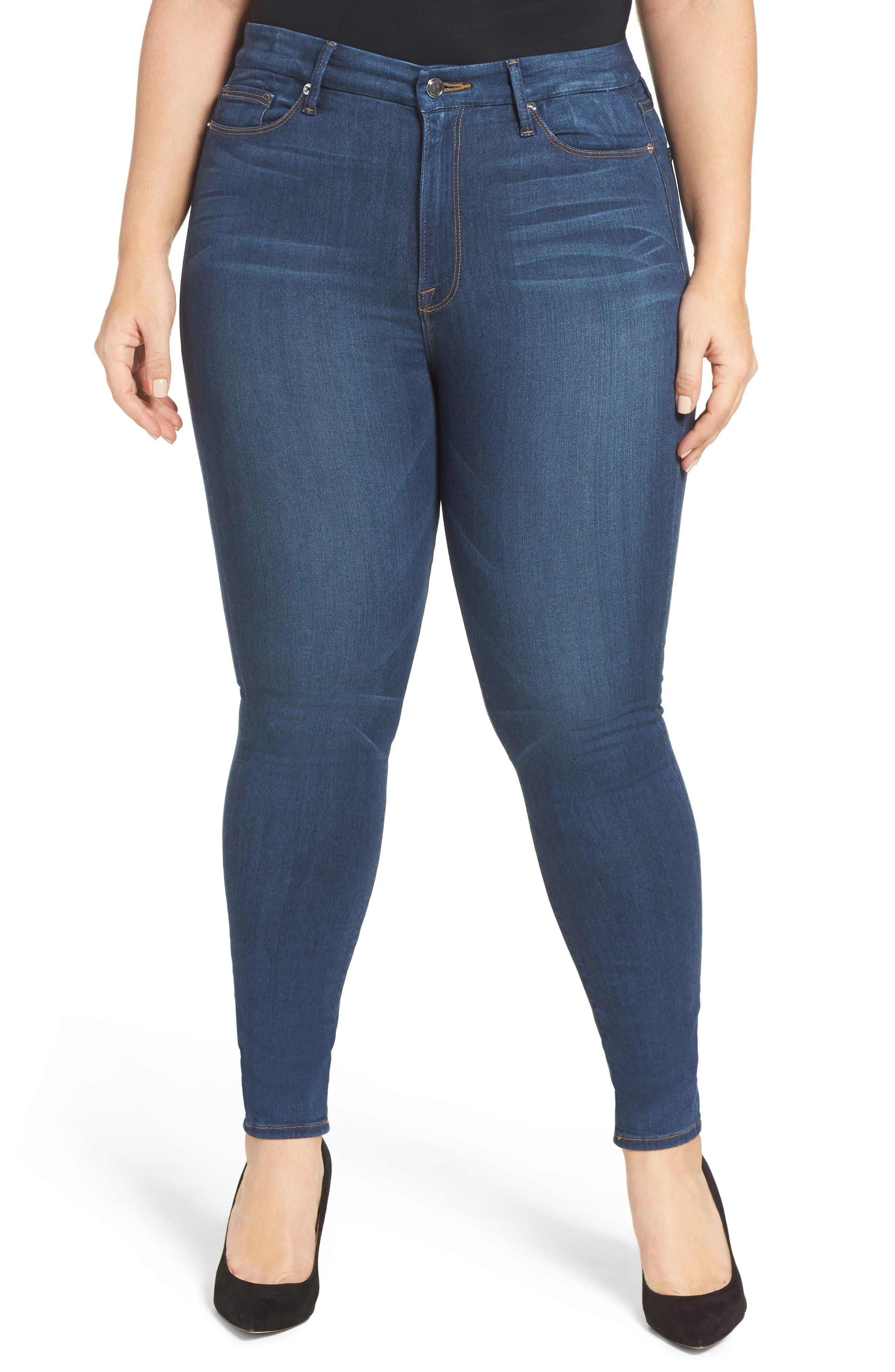 Good Waist High Rise Skinny Jeans,                             Main thumbnail 1, color,                             BLUE013
