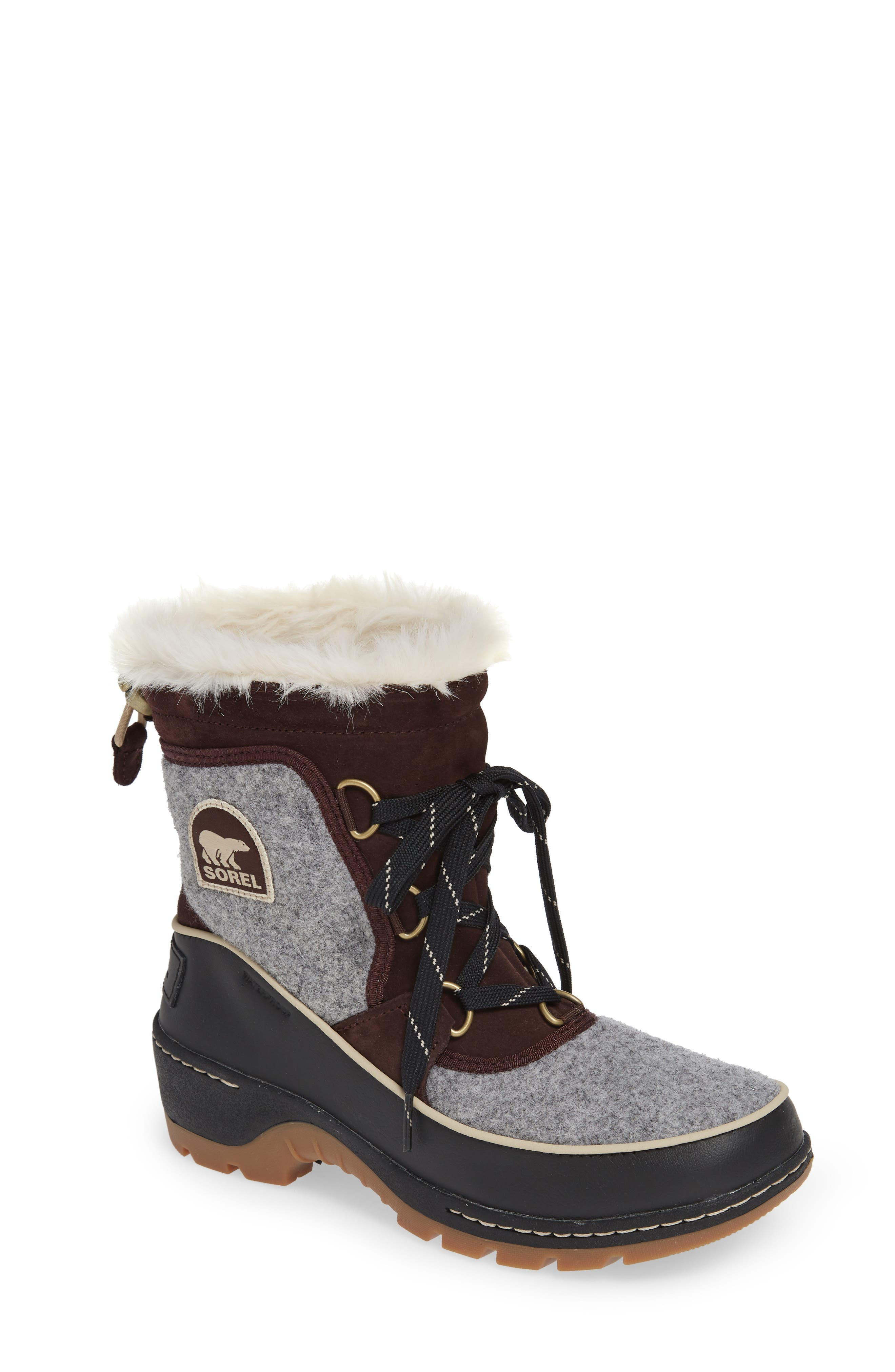 Tivoli Iii Waterproof Lace-Up Winter Boots With Faux Fur in Cattail/ Quarry
