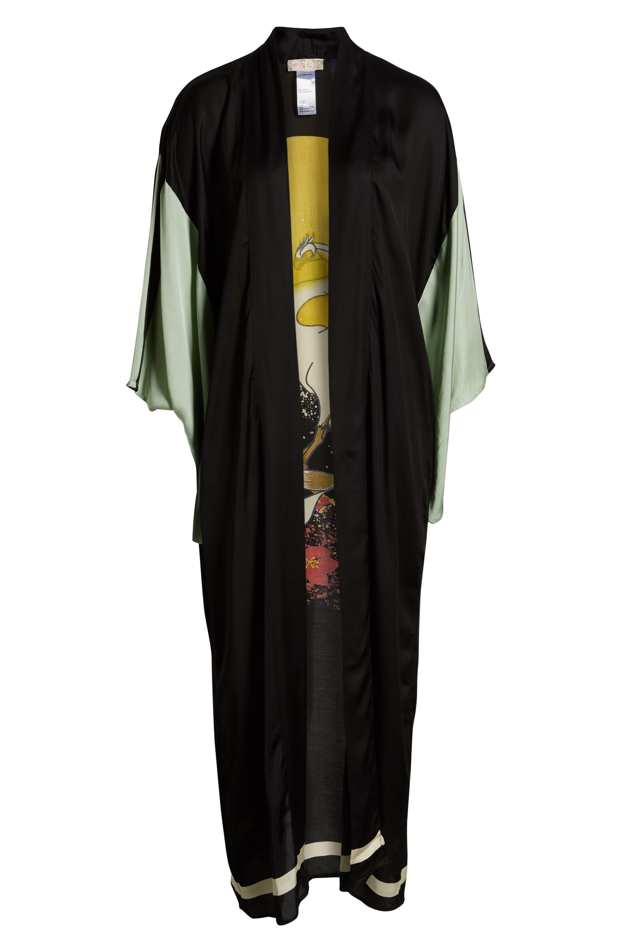 FREE PEOPLE,                             Rising Sun Kimono,                             Alternate thumbnail 6, color,                             001
