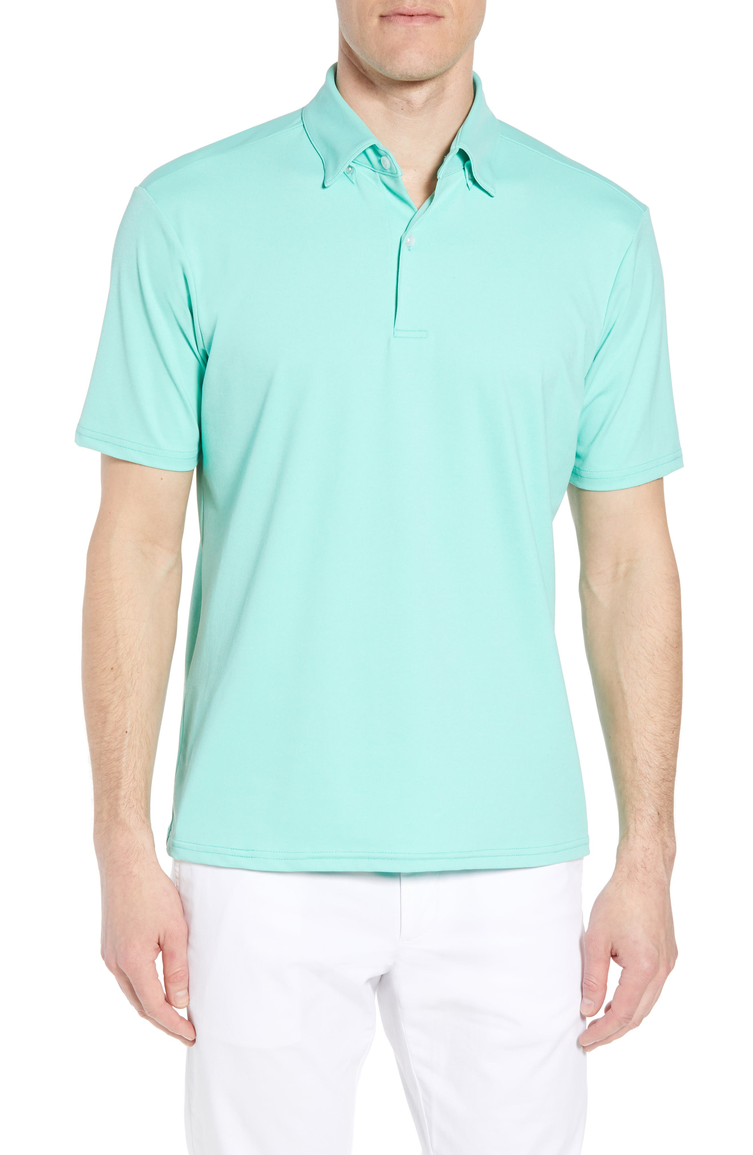 Slim Fit Active Polo,                         Main,                         color, GREEN