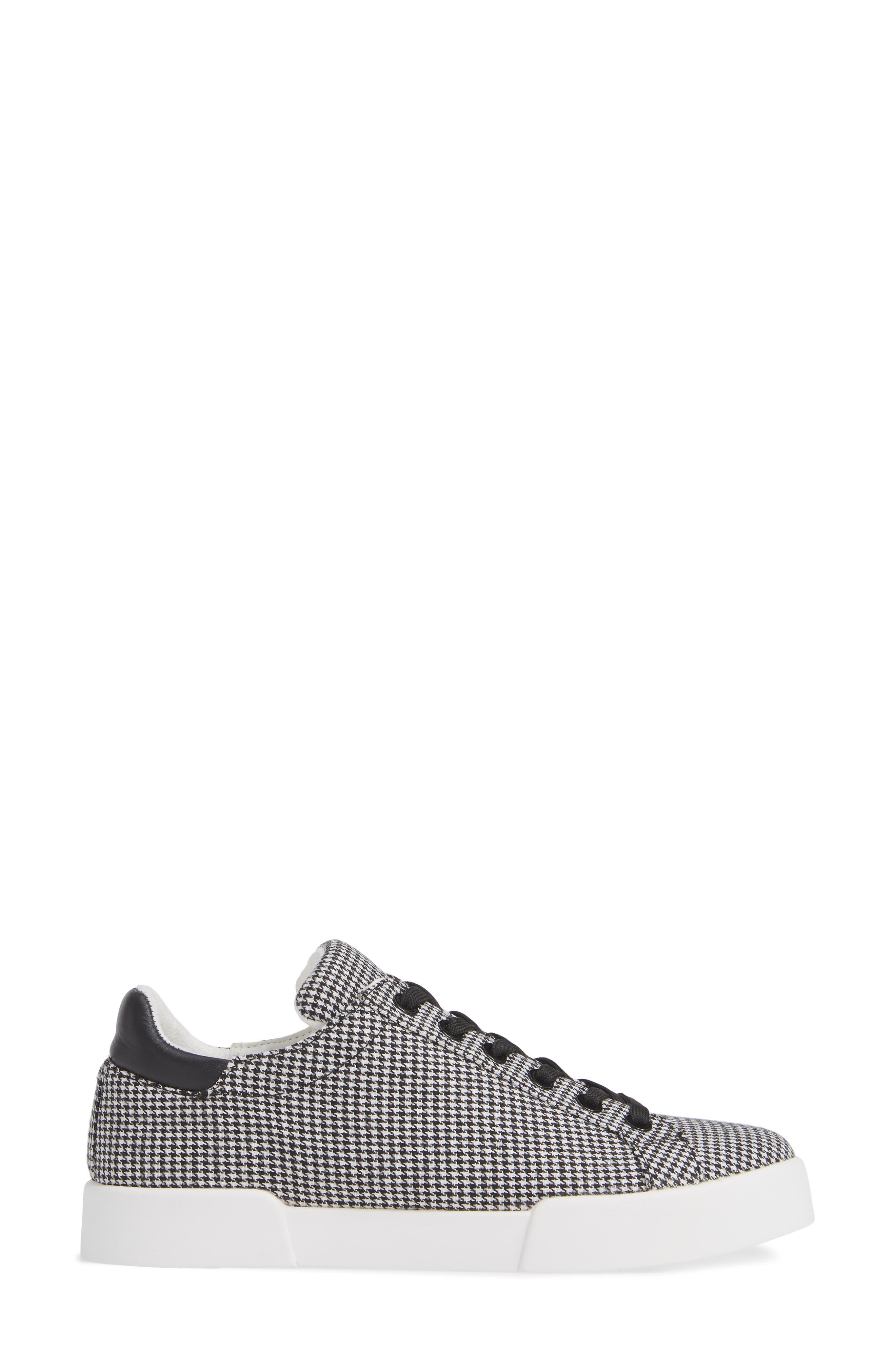 Tyler Sneaker,                             Alternate thumbnail 3, color,                             BLACK/ WHITE FABRIC