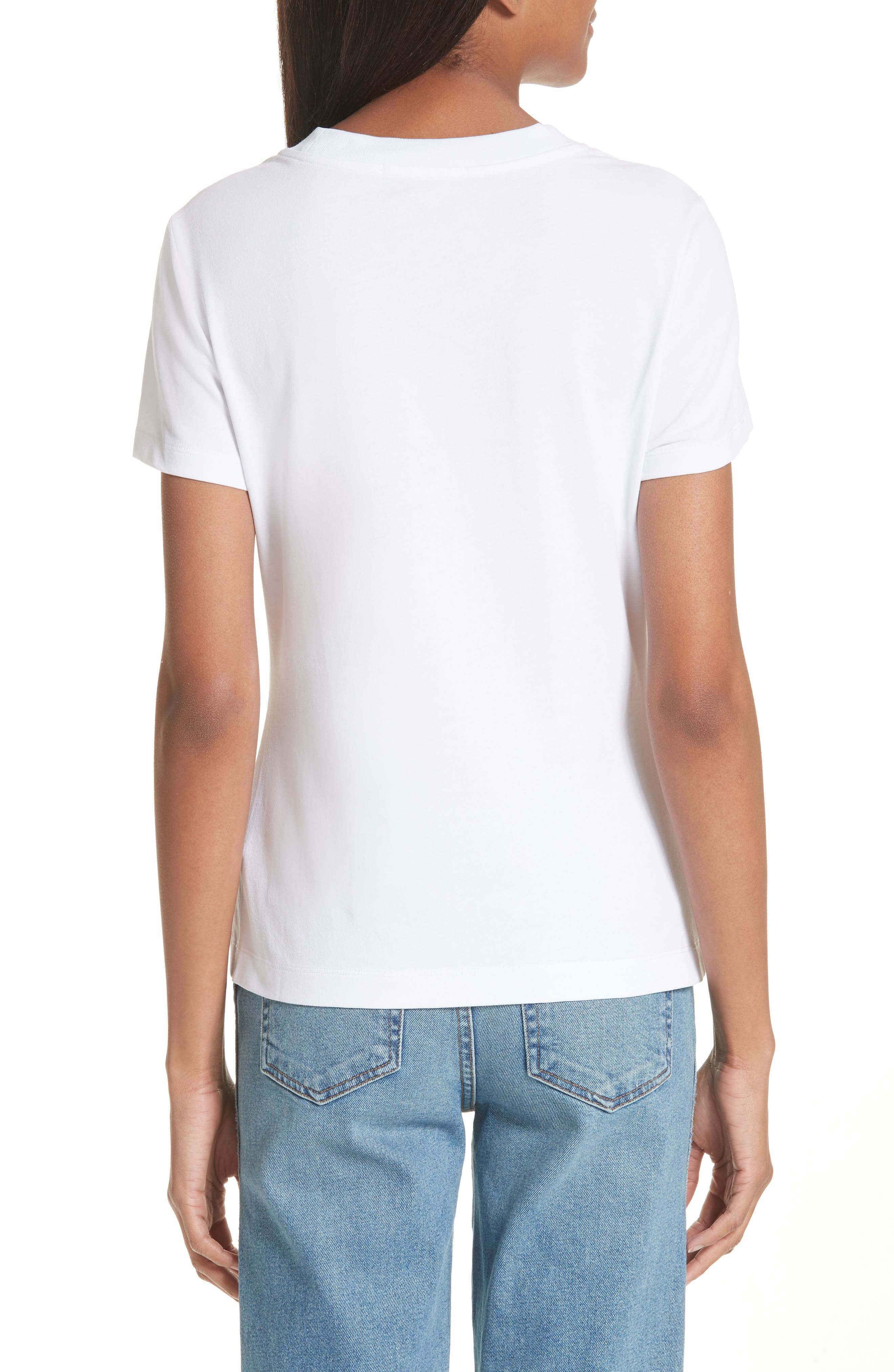 T by Alexander Wang High Twist Rib Combo Top,                             Alternate thumbnail 2, color,                             100