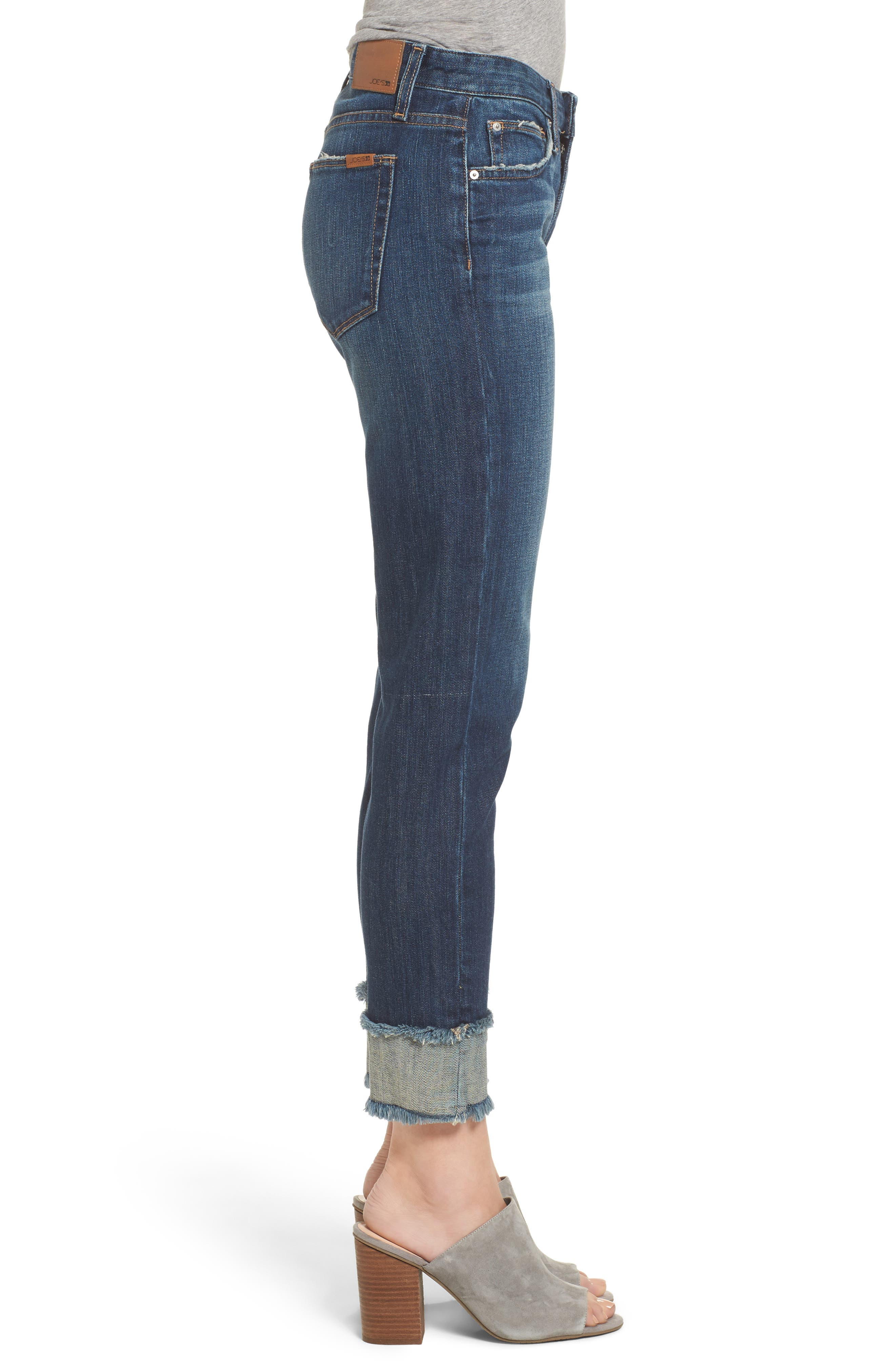 Smith Crop Boyfriend Jeans,                             Alternate thumbnail 3, color,                             411