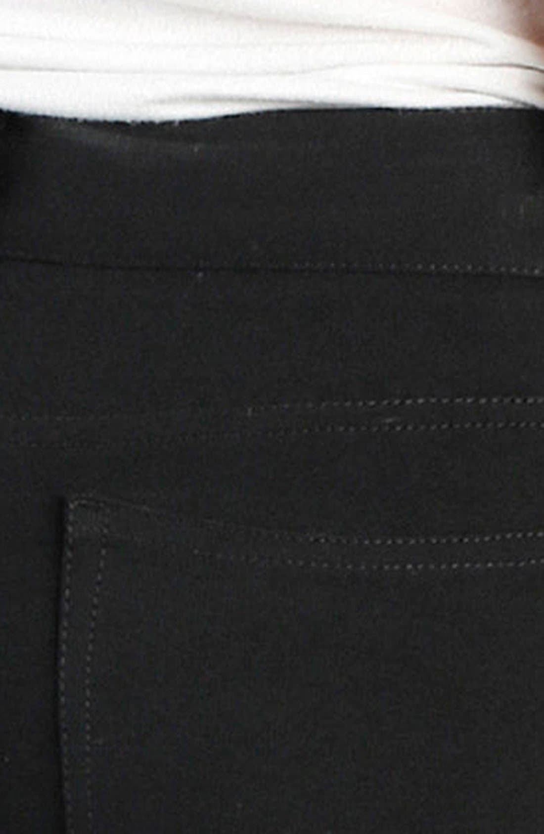 'Verdugo' Ponte Ankle Pants,                             Alternate thumbnail 4, color,                             BLACK