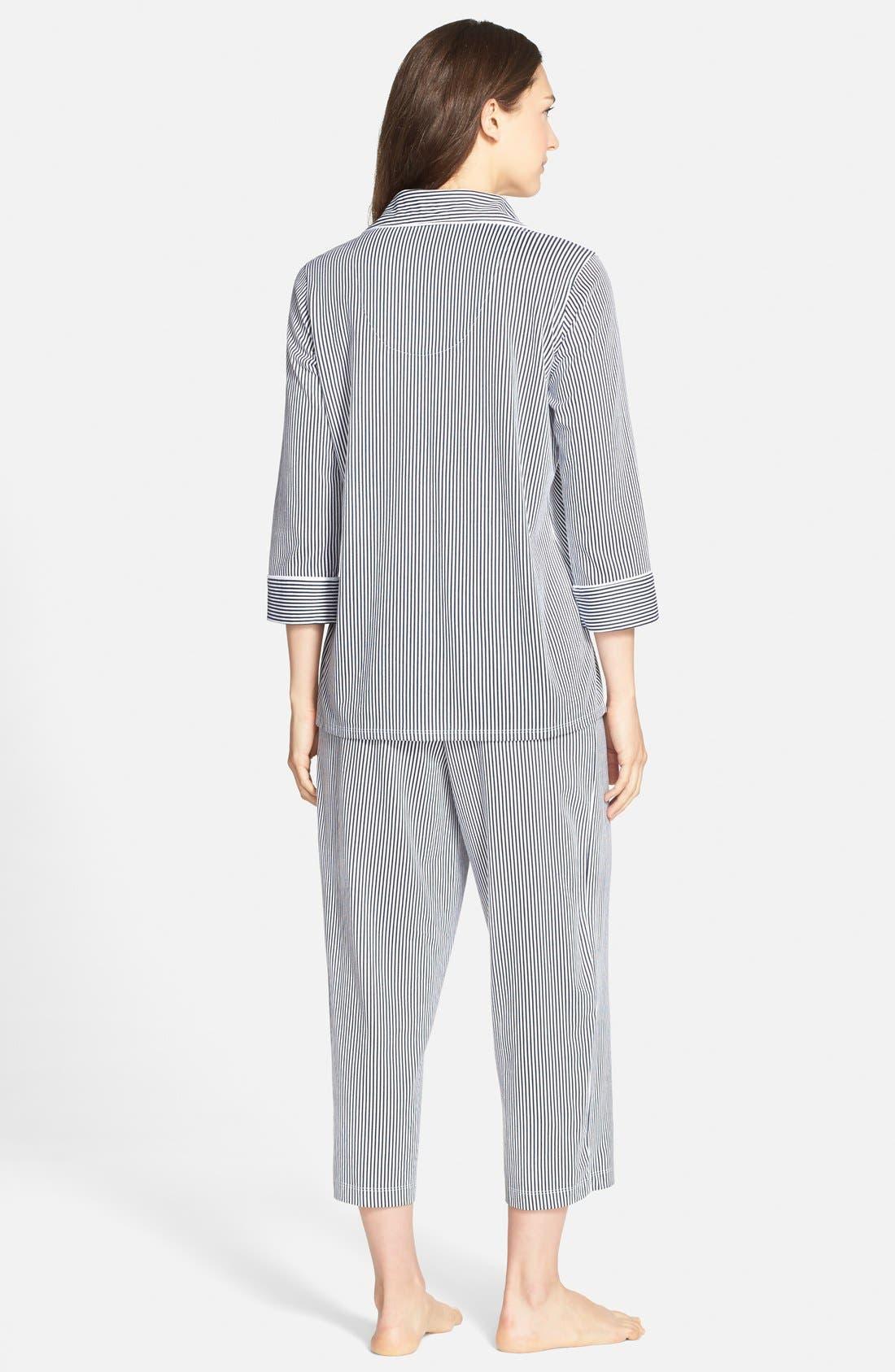 Knit Crop Pajamas,                             Alternate thumbnail 41, color,