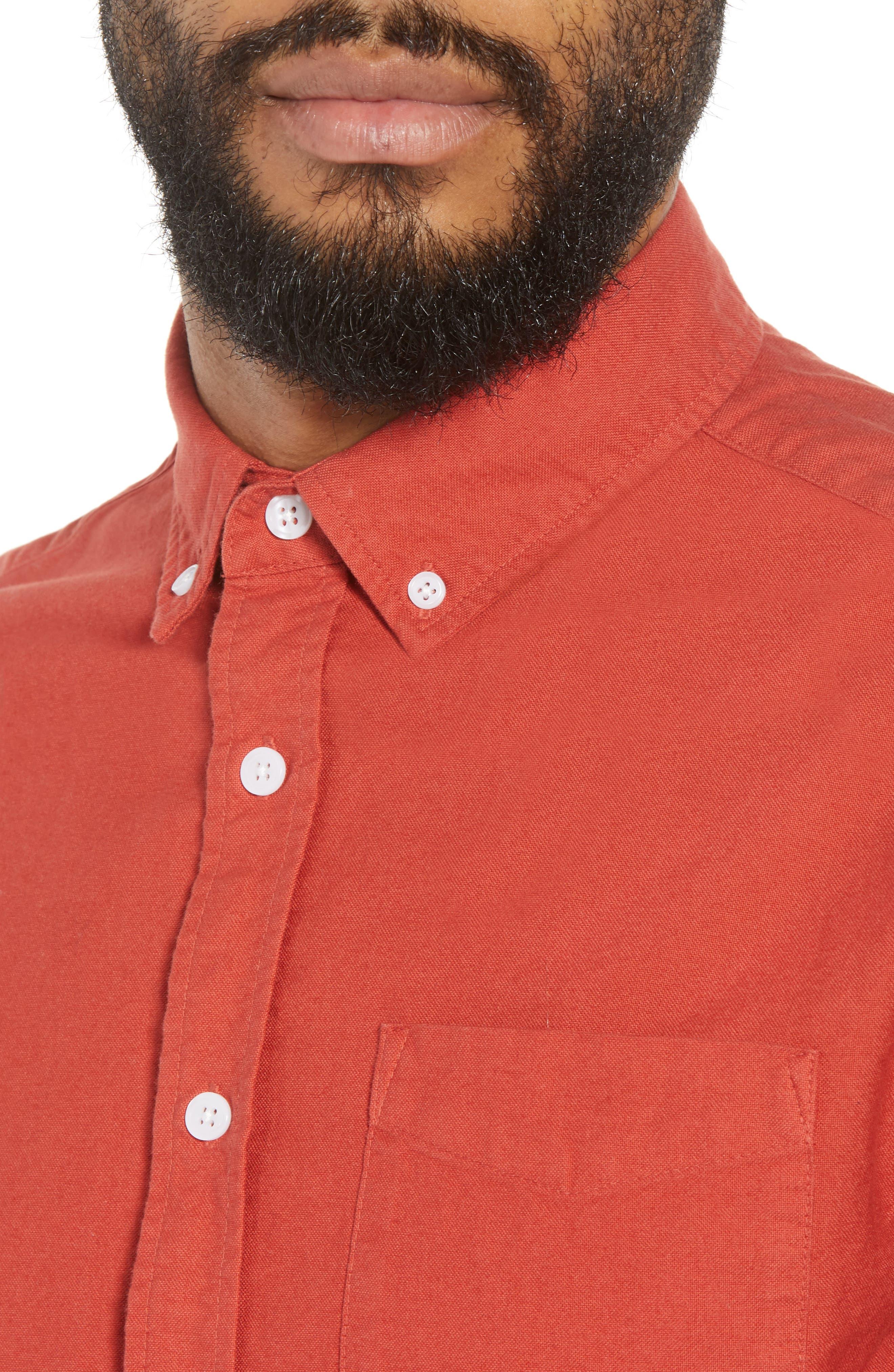 Crosby Oxford Woven Shirt,                             Alternate thumbnail 4, color,                             600