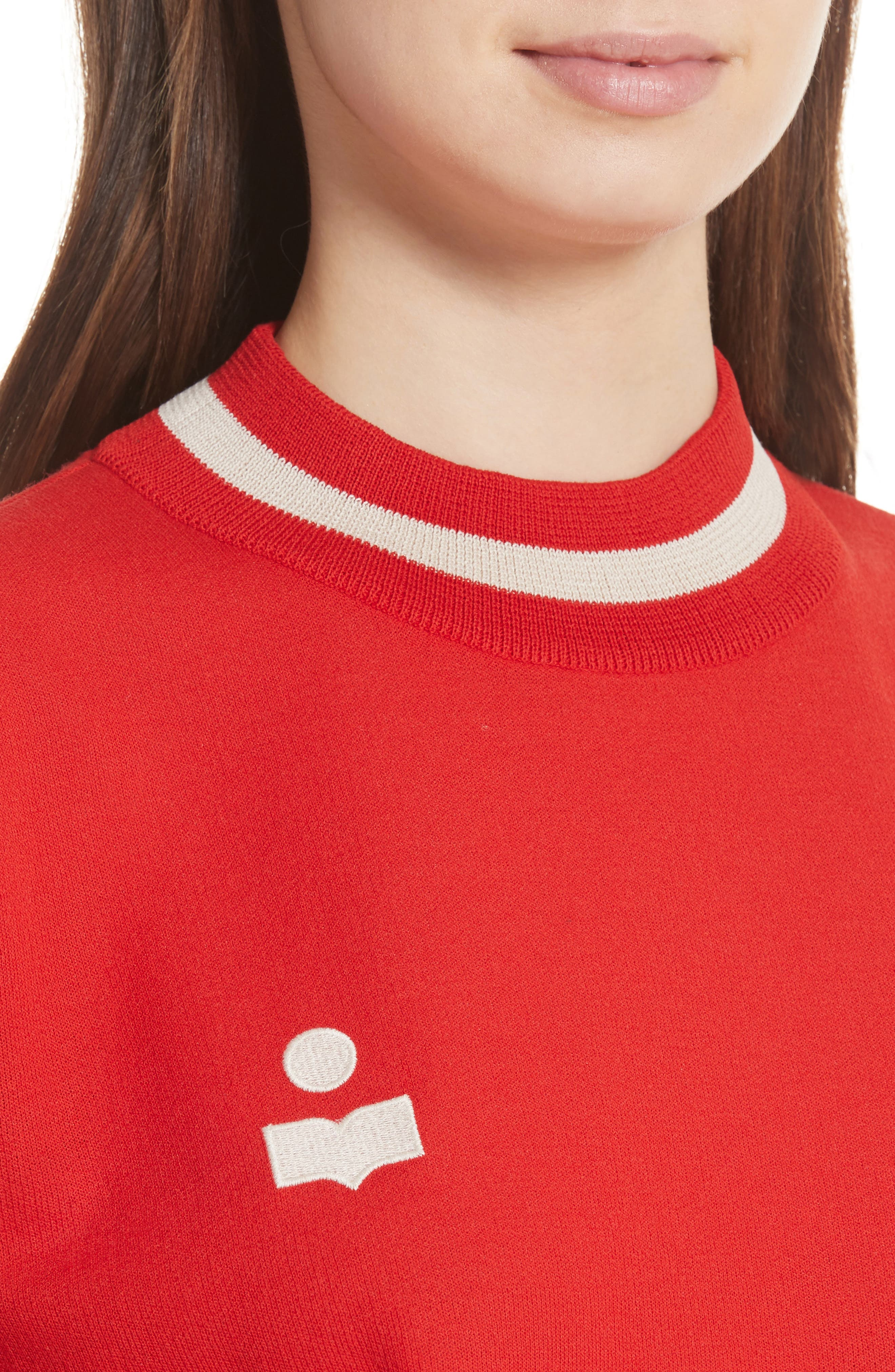 Dayton Crop Sweatshirt,                             Alternate thumbnail 4, color,                             600