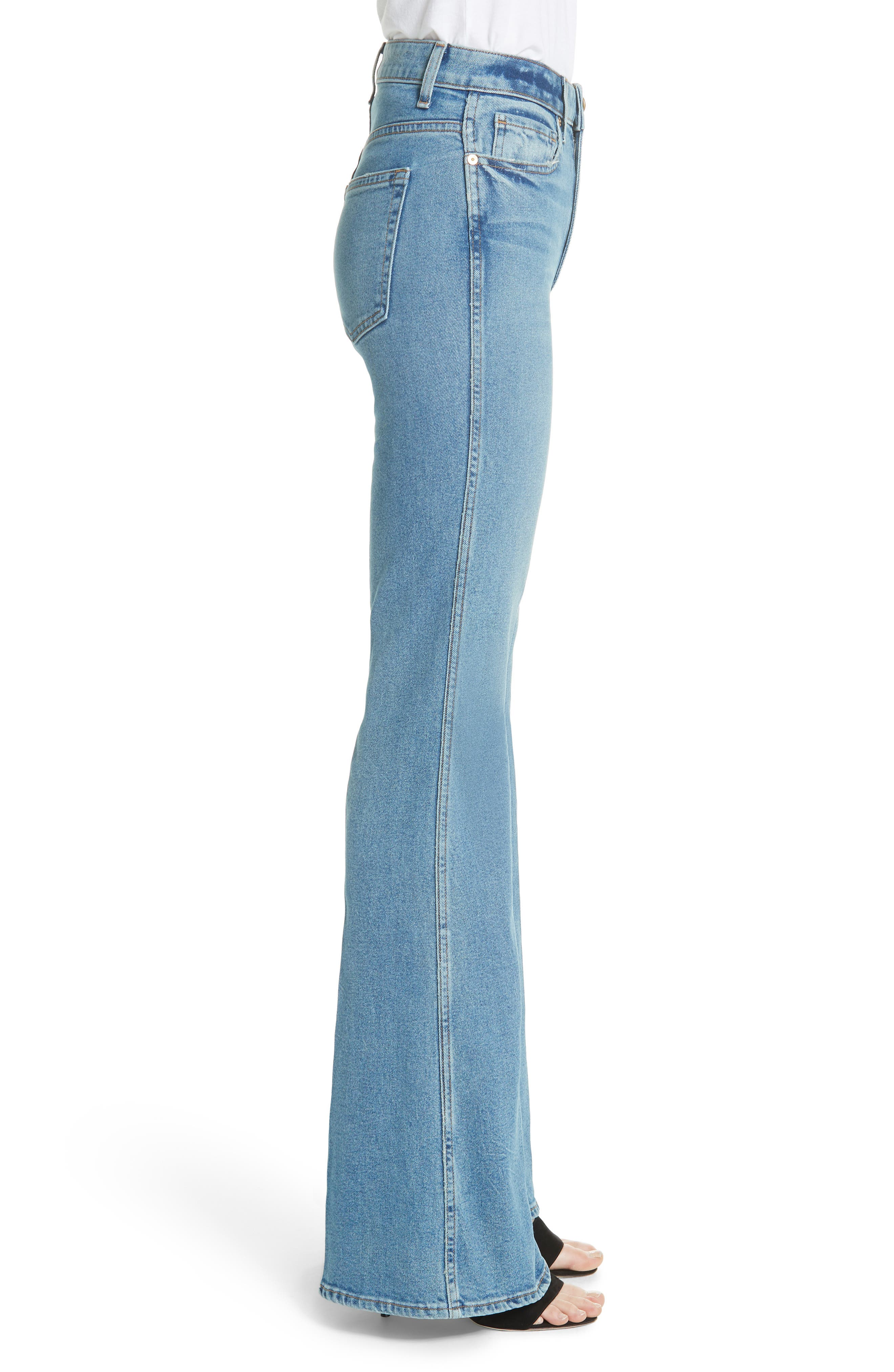 Reece Flare Jeans,                             Alternate thumbnail 3, color,                             401