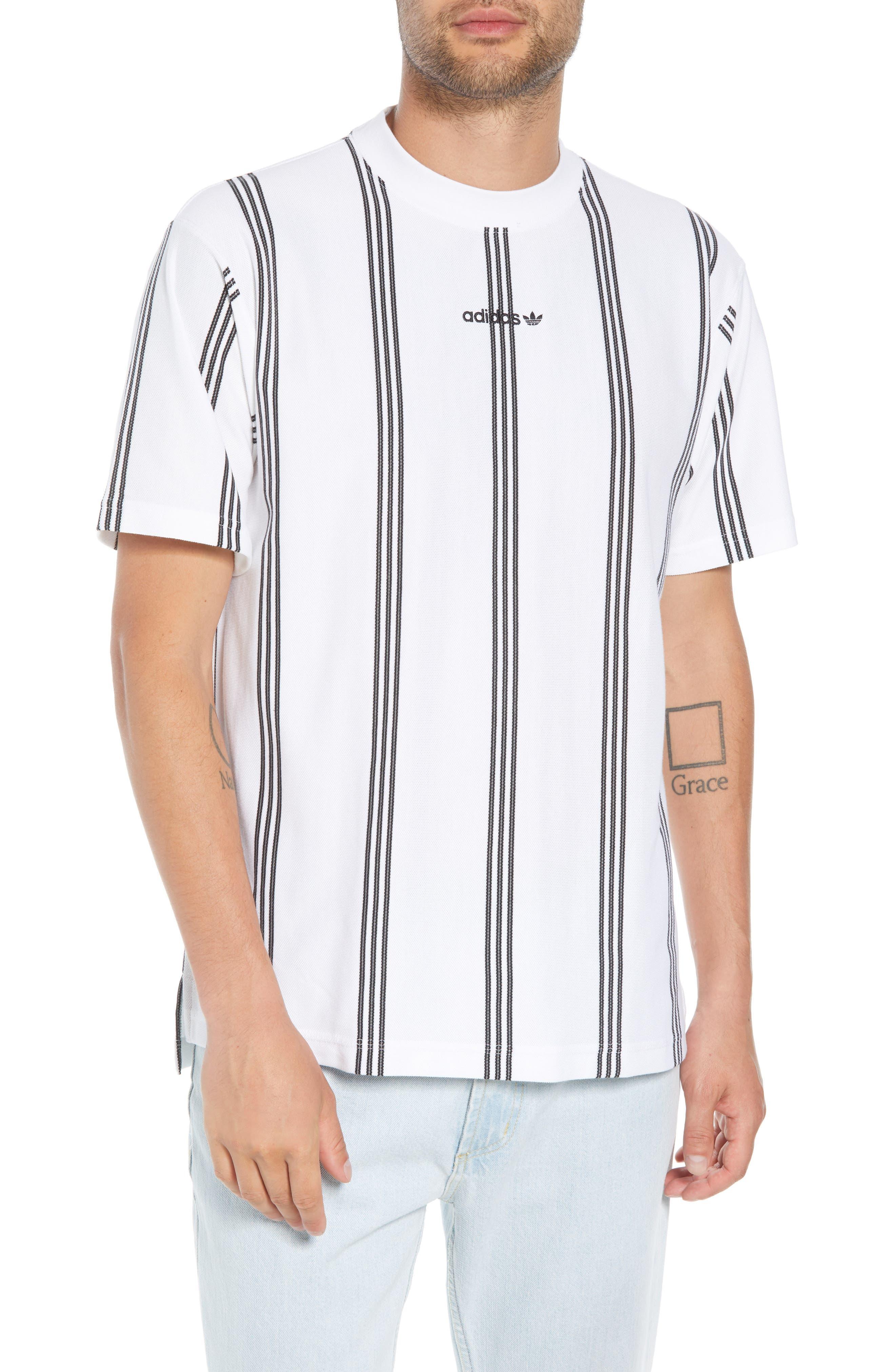 Stripe Tennis T-Shirt,                             Main thumbnail 1, color,                             100