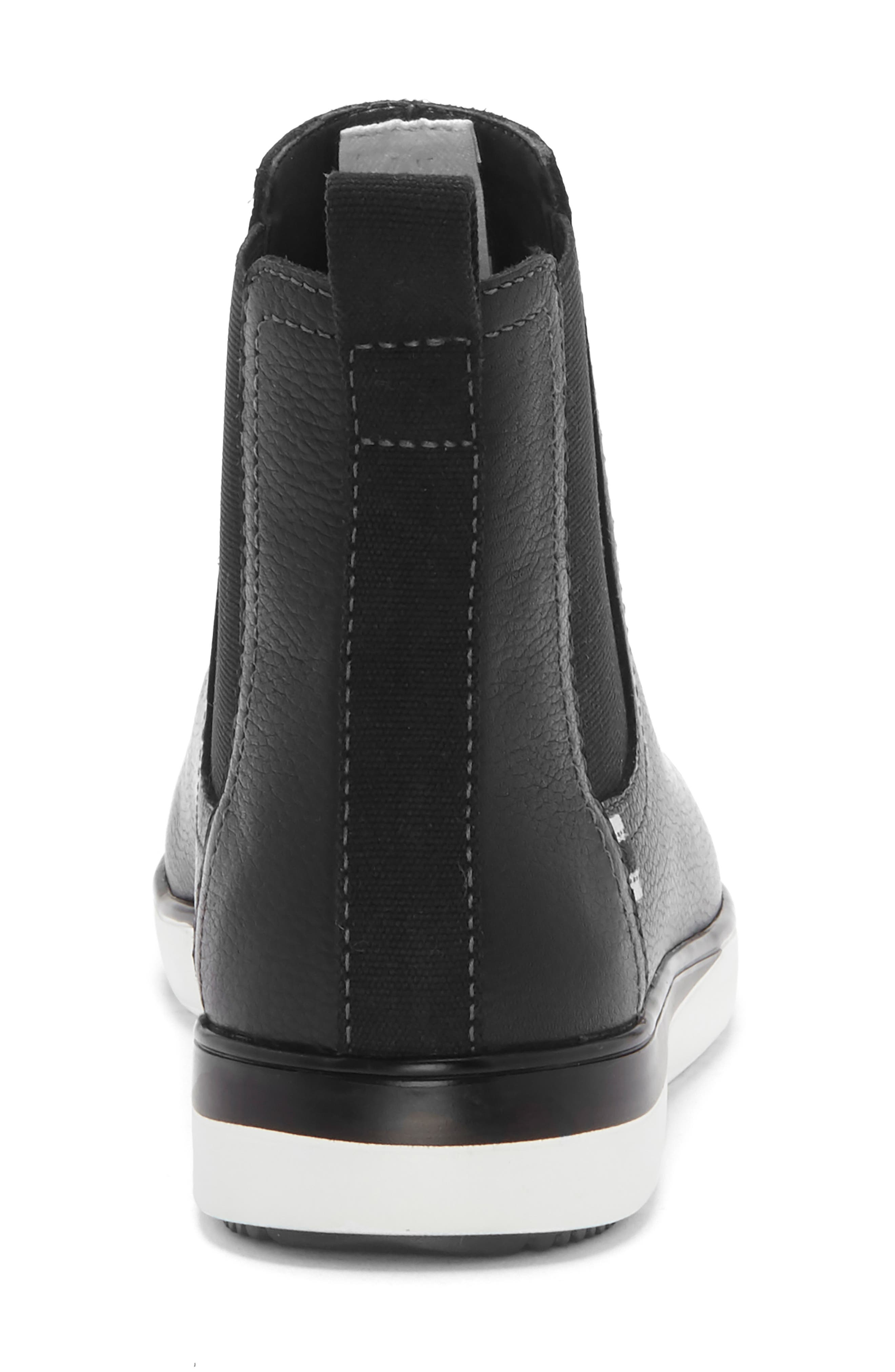 Alvarie Chelsea Bootie,                             Alternate thumbnail 8, color,                             BLACK LEATHER