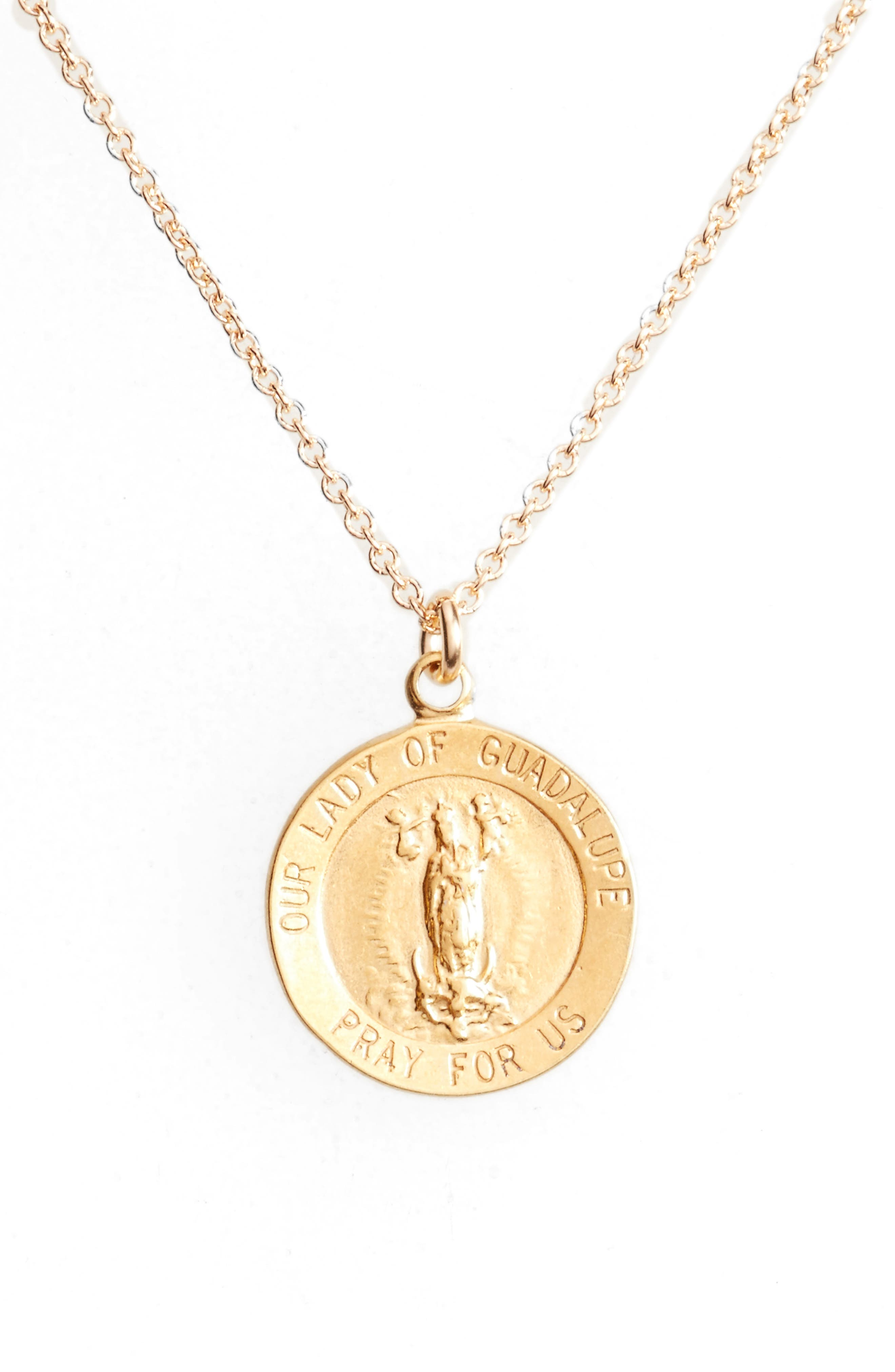 Our Lady of Guadalupe Pendant Necklace,                             Alternate thumbnail 6, color,