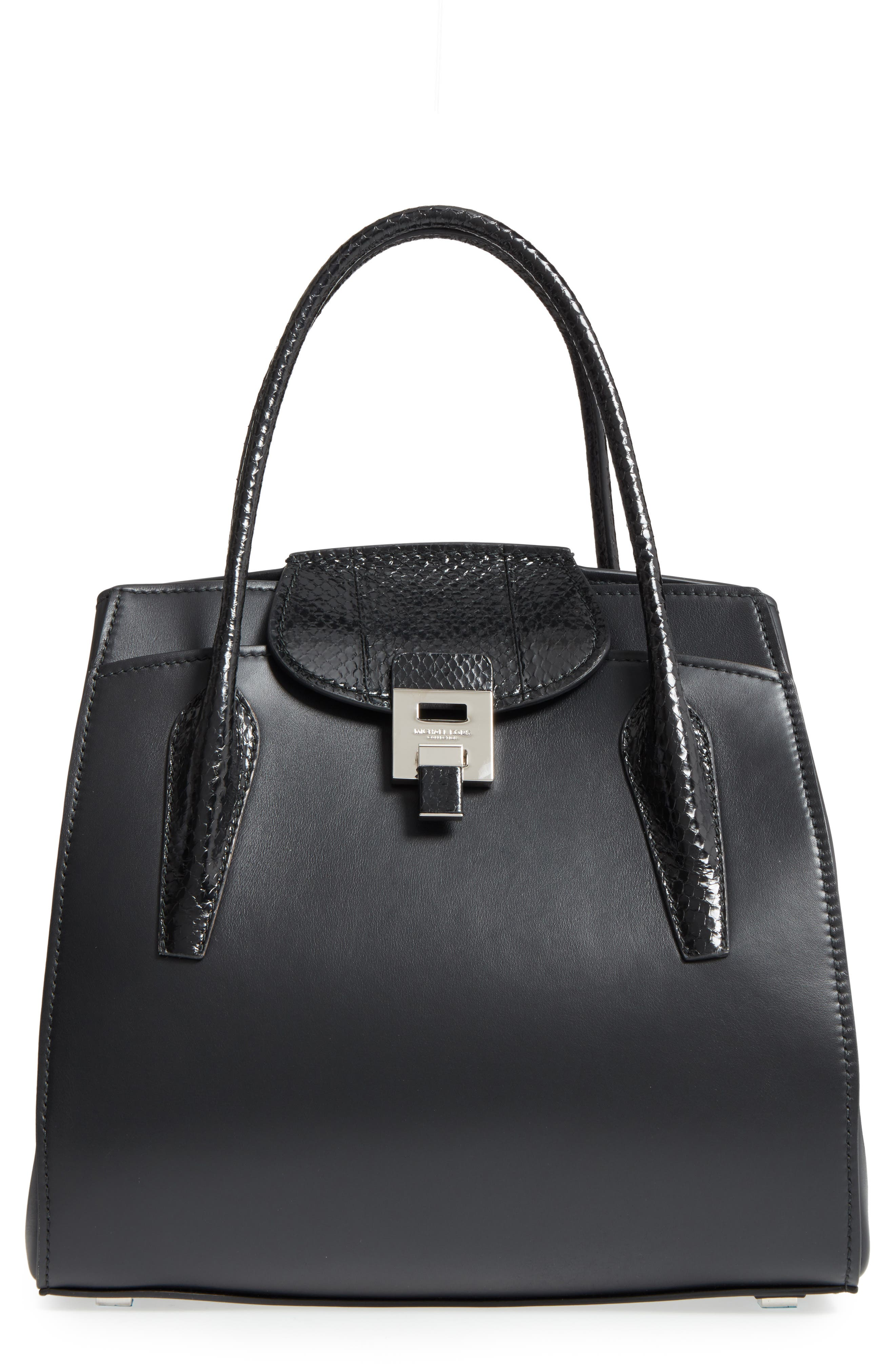 Large Bancroft Leather Top Handle Satchel,                         Main,                         color,