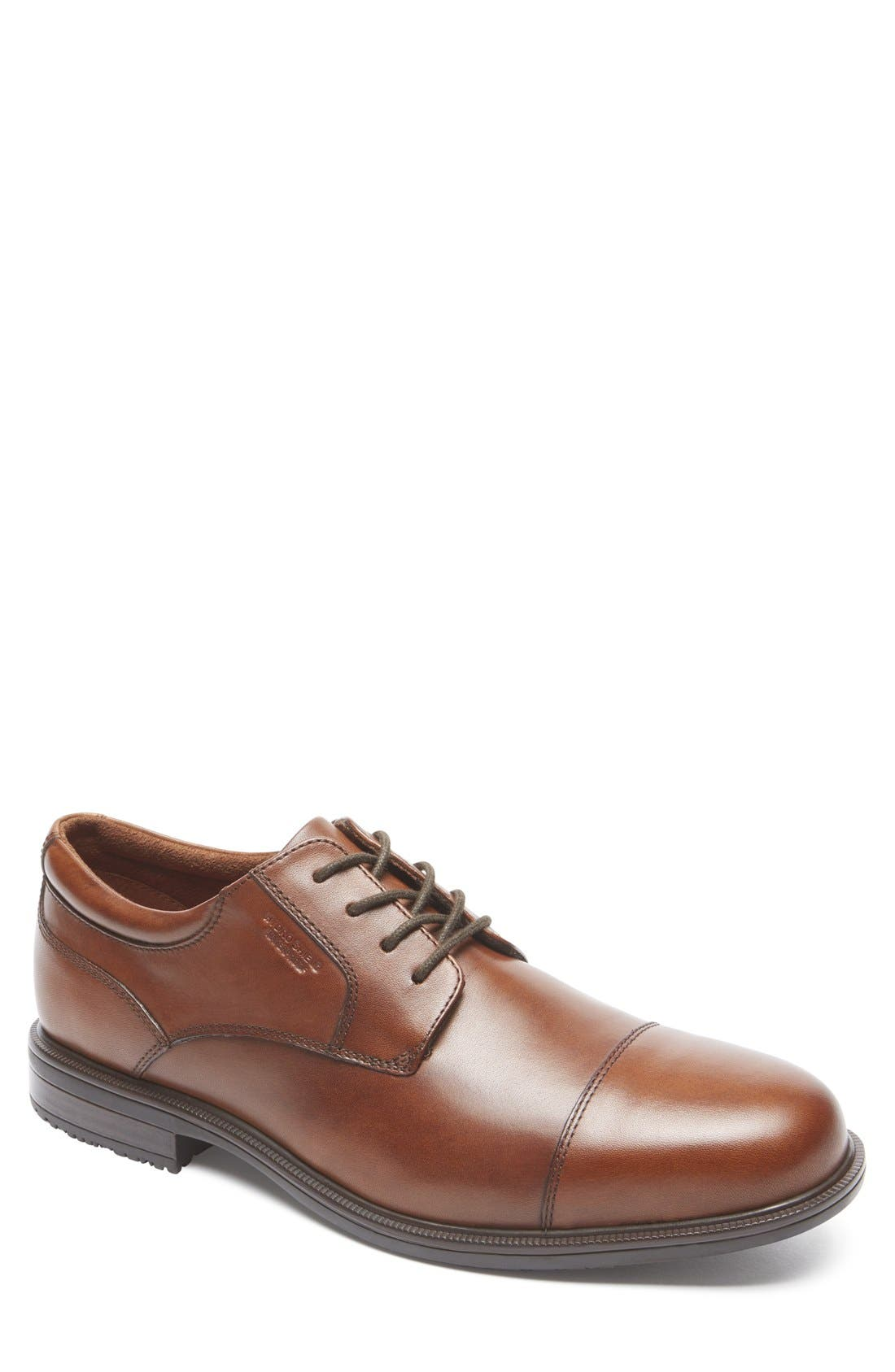 'Essential Details II' Cap Toe Derby,                             Main thumbnail 1, color,                             200