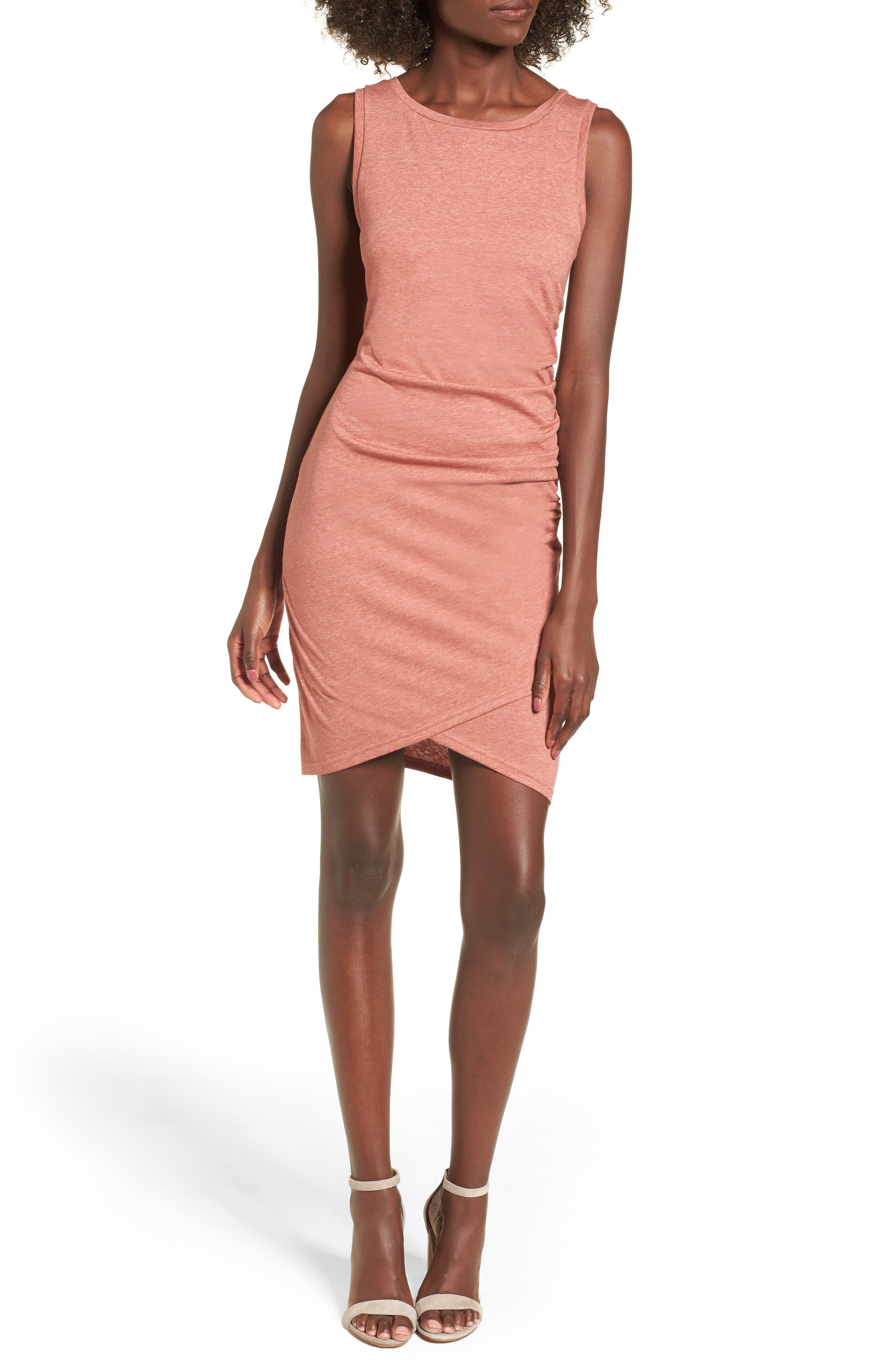 Ruched Body-Con Tank Dress,                             Alternate thumbnail 162, color,