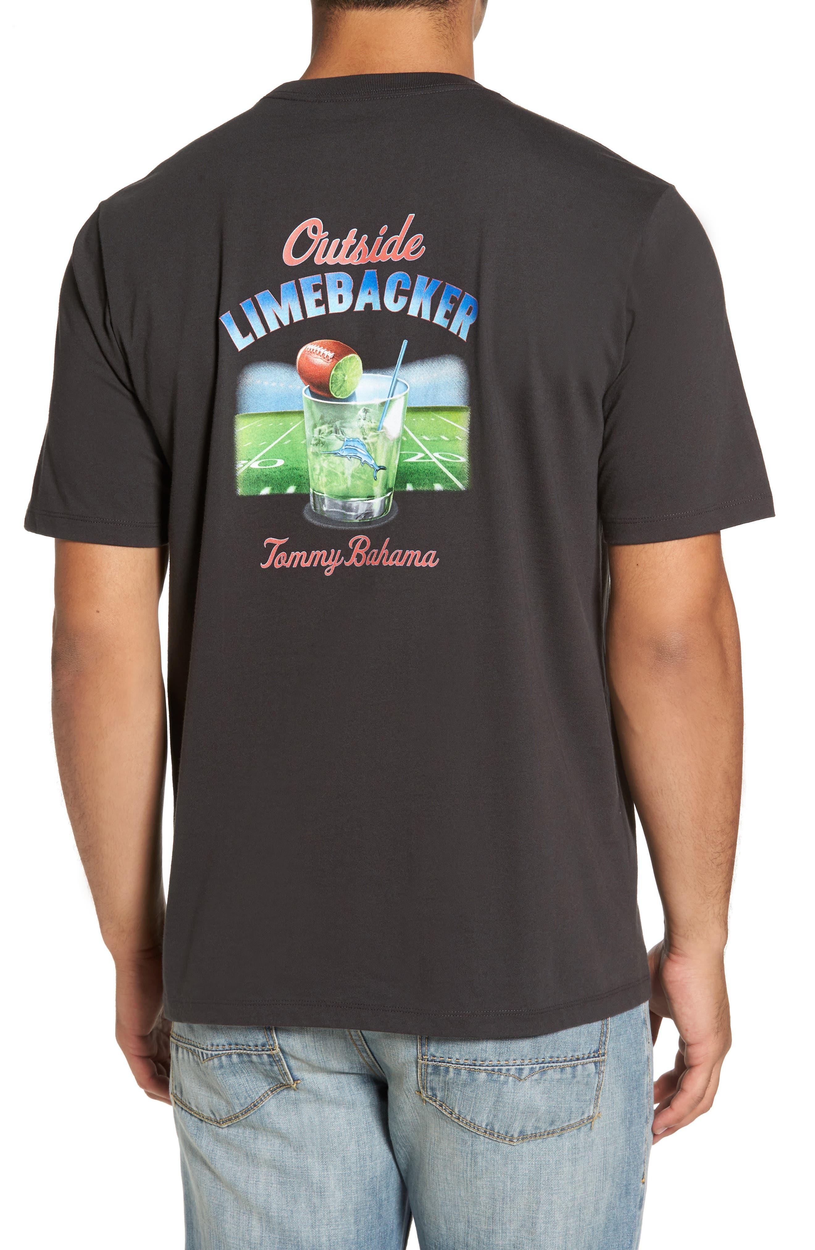 Outside Limebacker T-Shirt,                             Alternate thumbnail 2, color,                             001