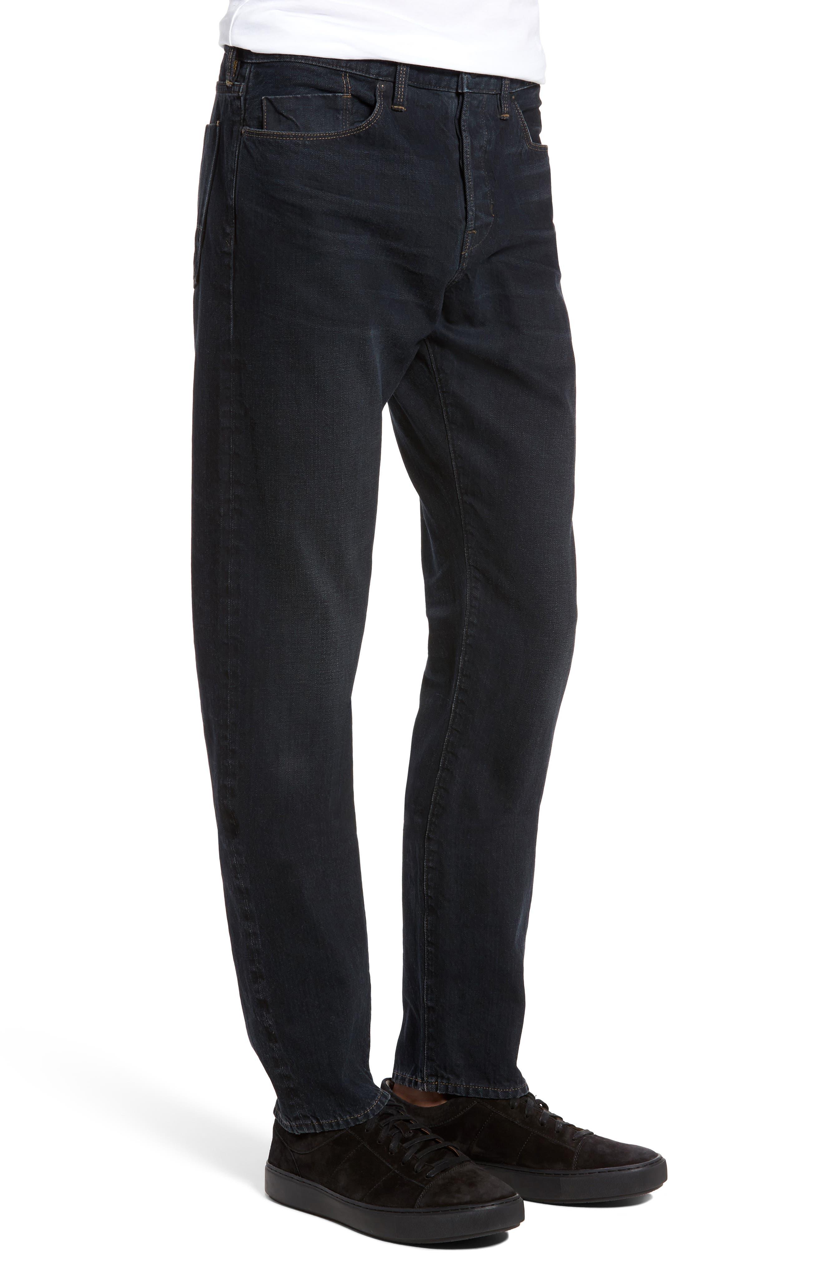 Slim Straight Leg Jeans,                             Alternate thumbnail 3, color,                             004