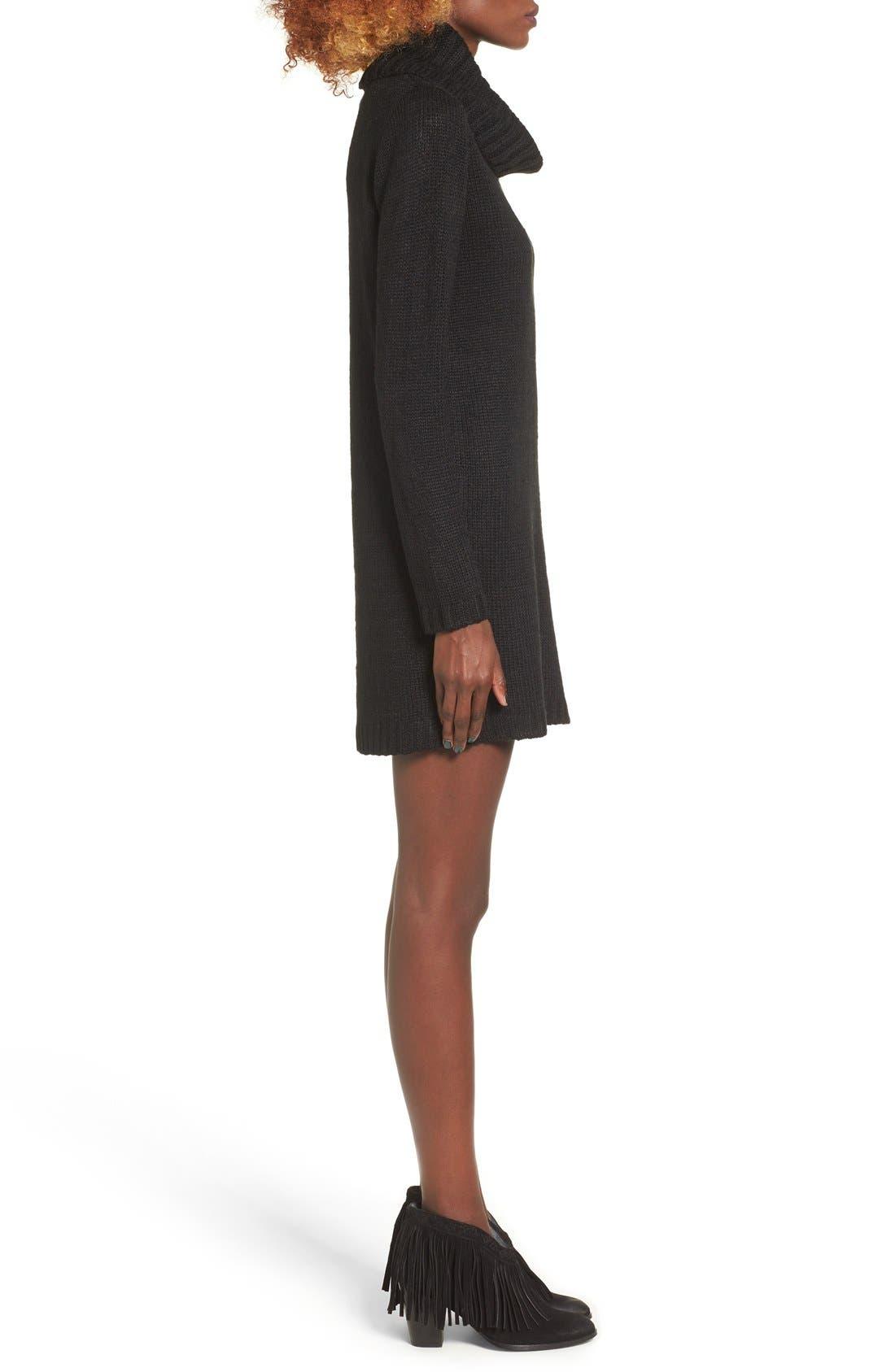 Turtleneck Sweater Dress,                         Main,                         color, 001