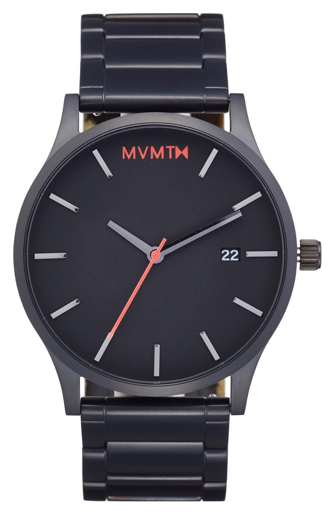 Bracelet Watch, 45mm,                             Main thumbnail 1, color,                             BLACK/ BLACK