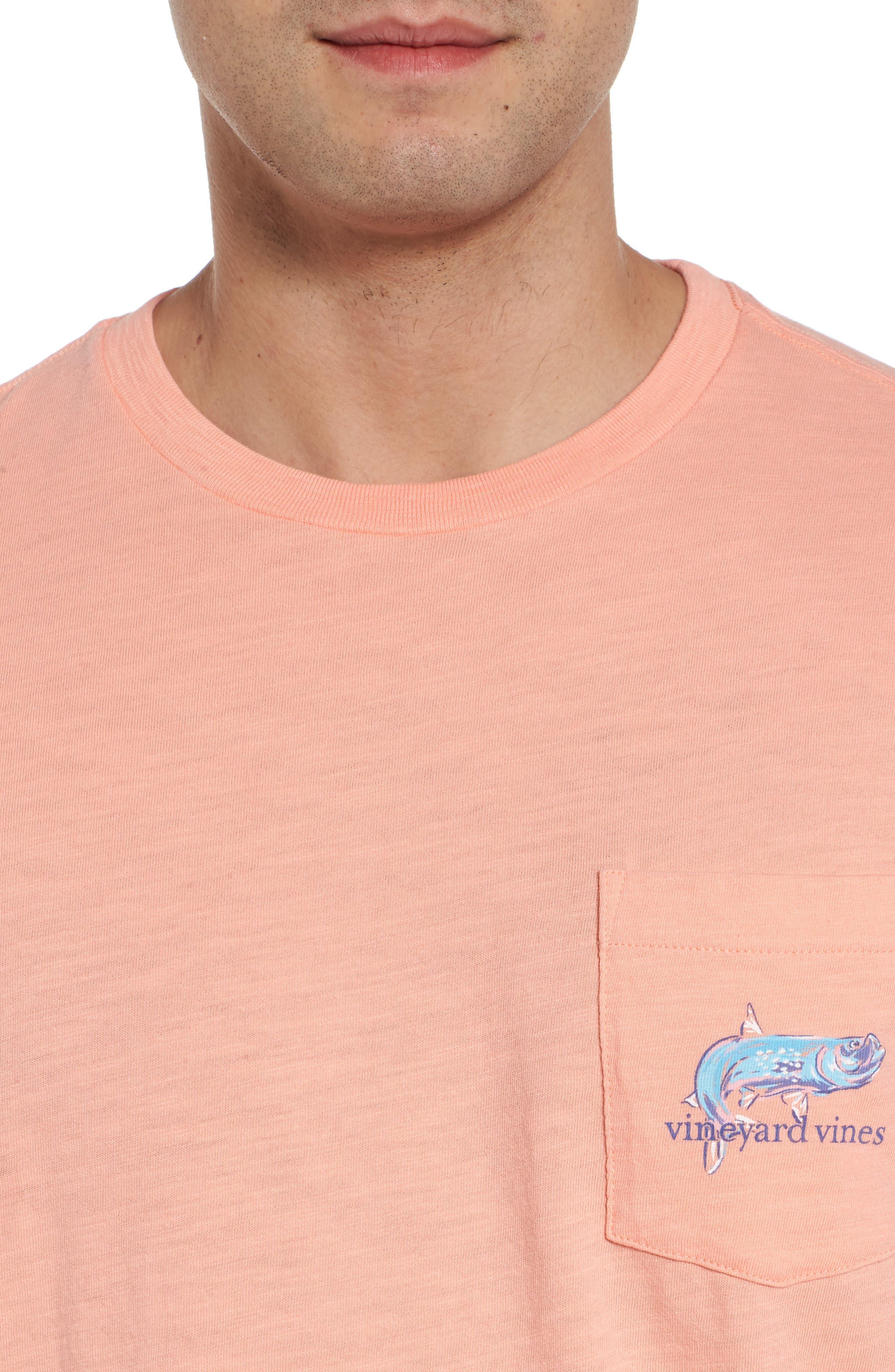 Painted Tarpon Graphic Pocket T-Shirt,                             Alternate thumbnail 4, color,                             821