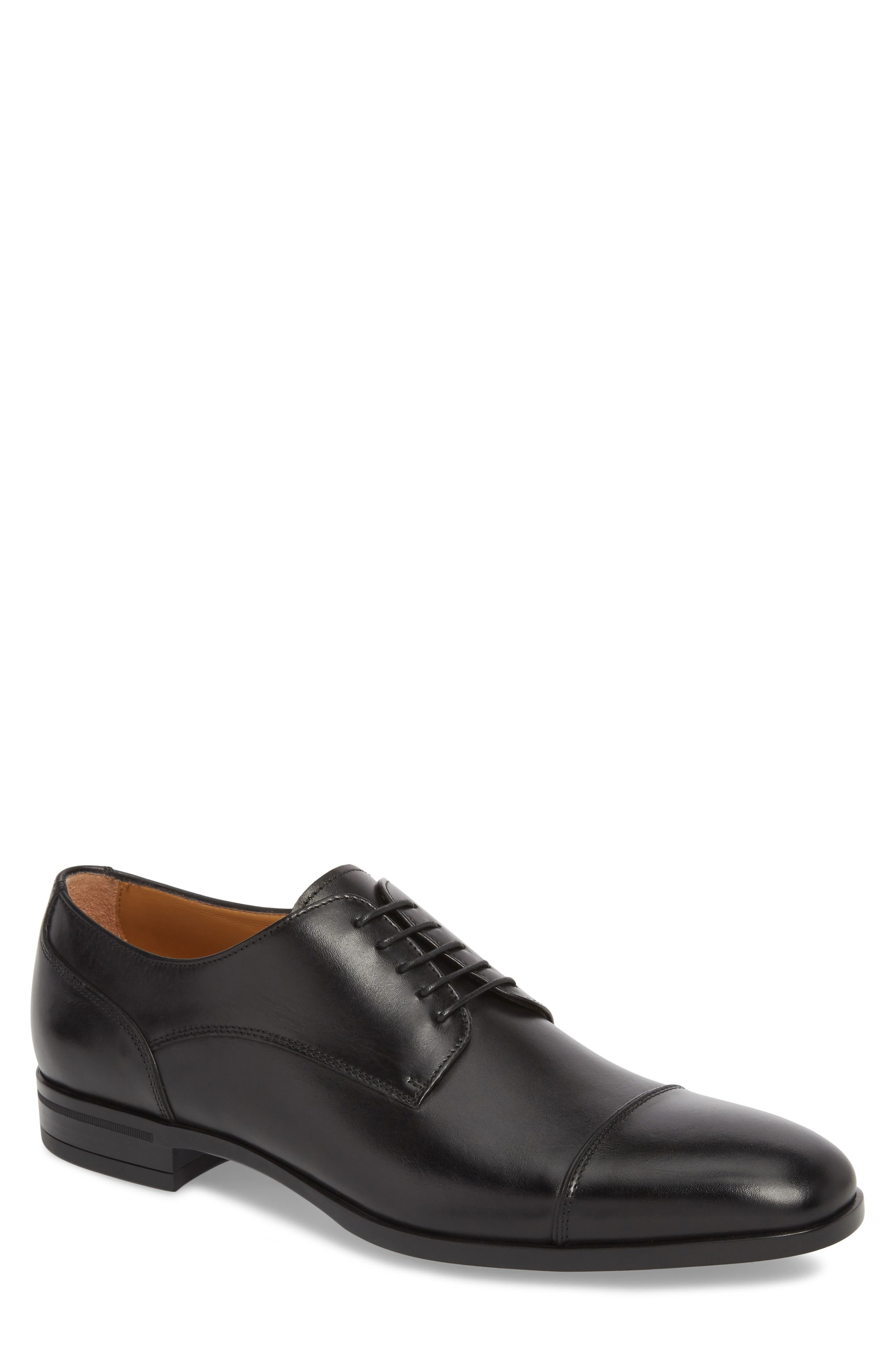 Hugo Boss Portland Cap Toe Derby,                             Main thumbnail 1, color,                             001