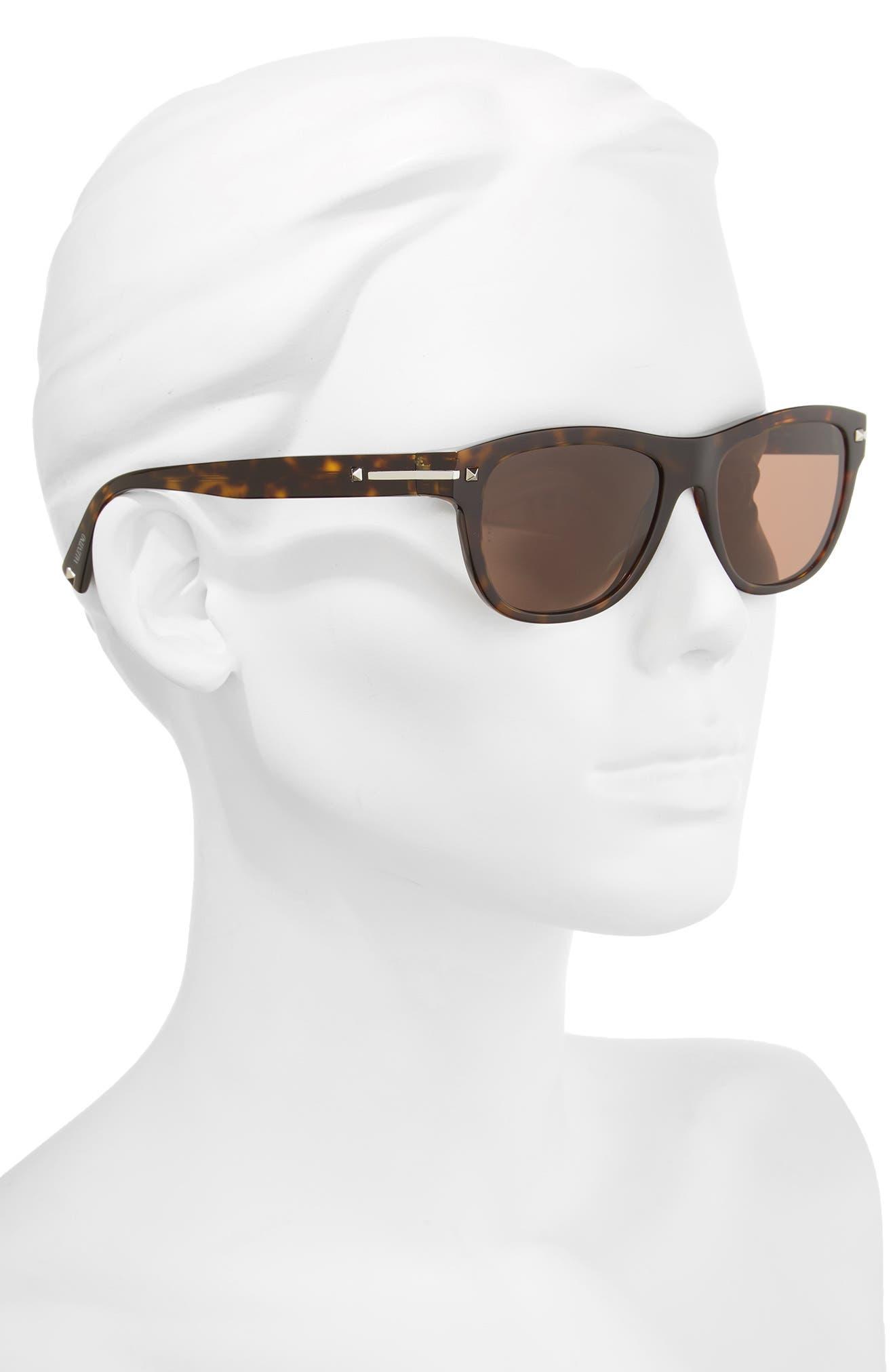 53mm Sunglasses,                             Alternate thumbnail 2, color,                             BROWN/ HAVANA