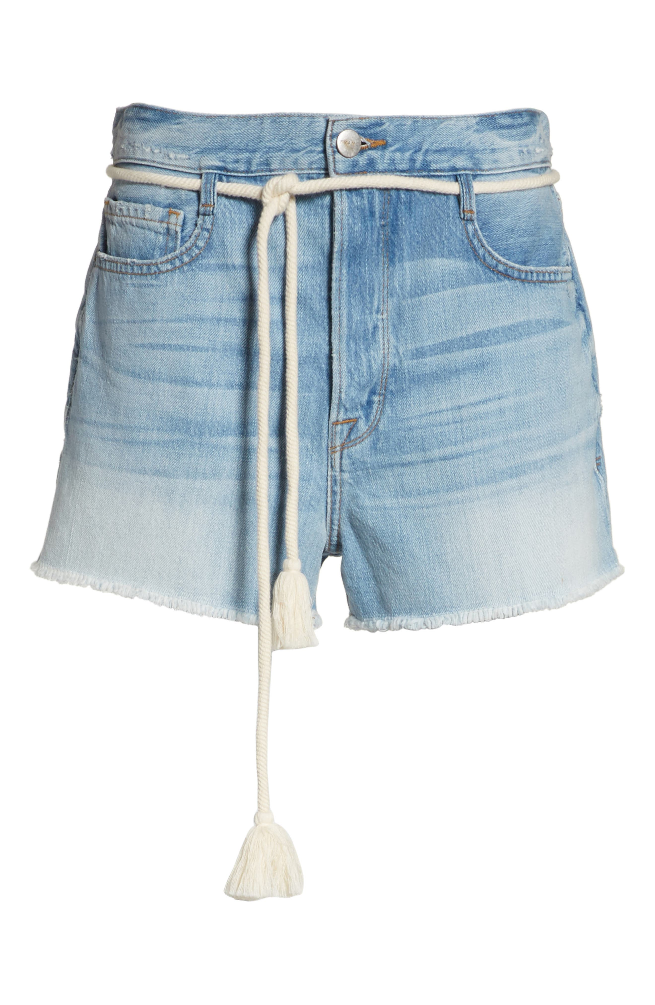 Cutoff Denim Shorts,                             Alternate thumbnail 6, color,                             402
