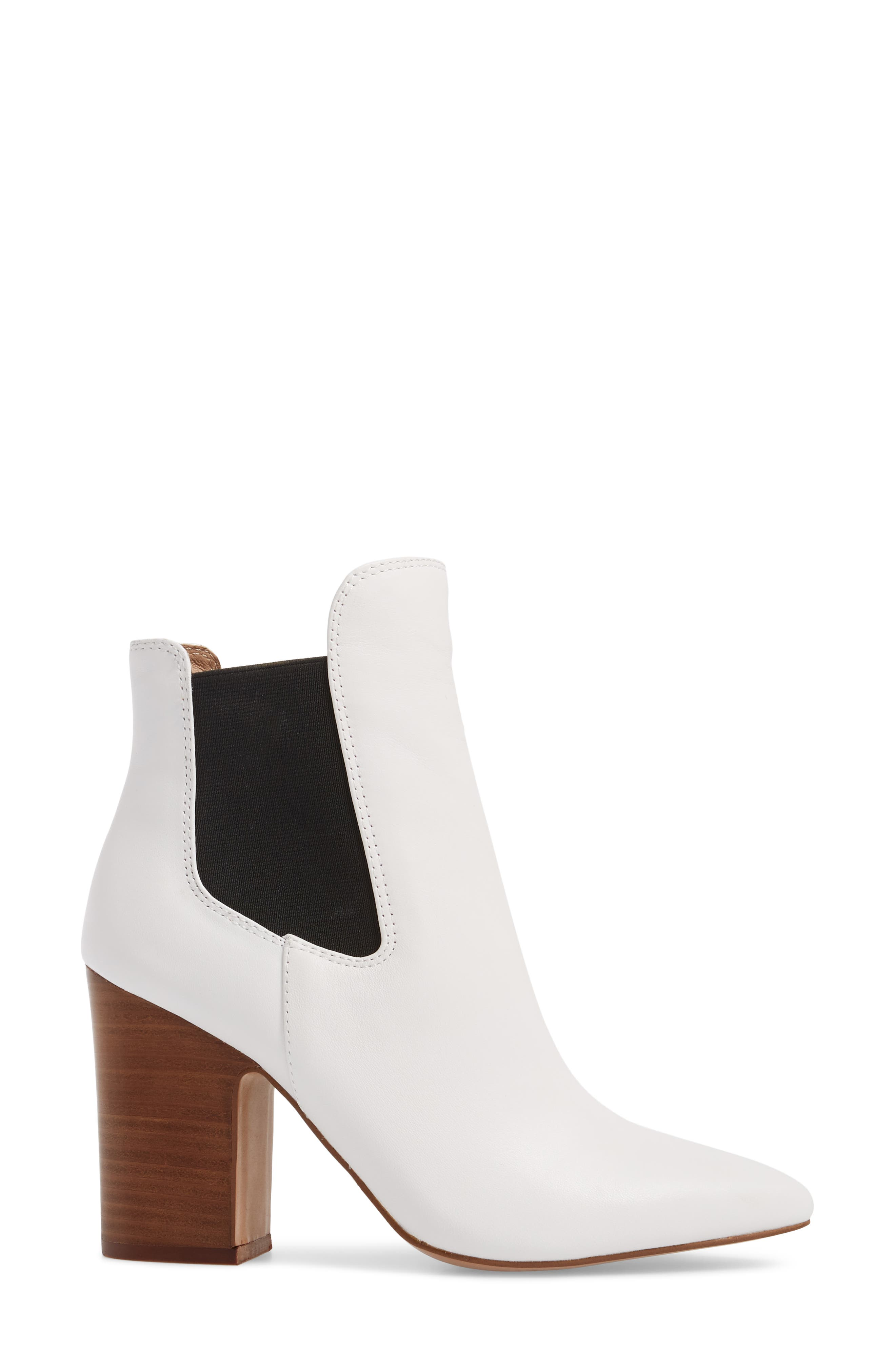 Starlight Bootie,                             Alternate thumbnail 3, color,                             WHITE LEATHER