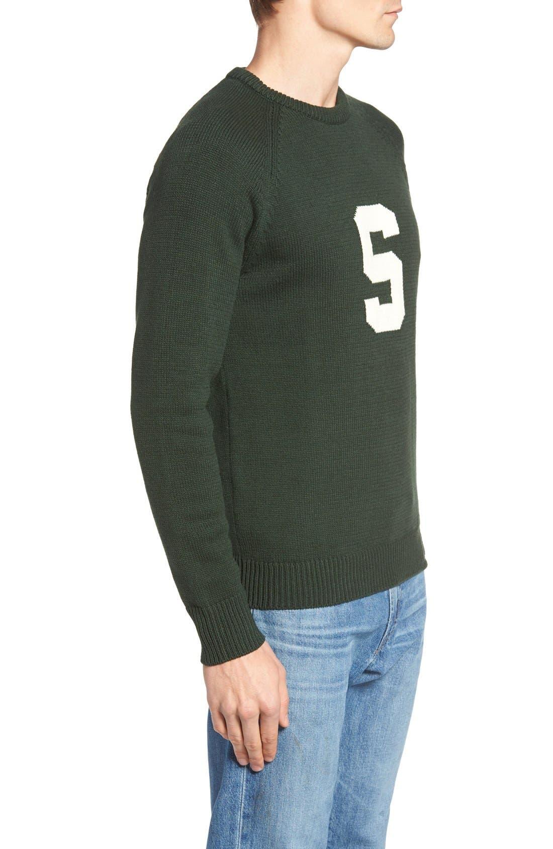 HILLFLINT,                             Michigan State Heritage Sweater,                             Alternate thumbnail 3, color,                             300