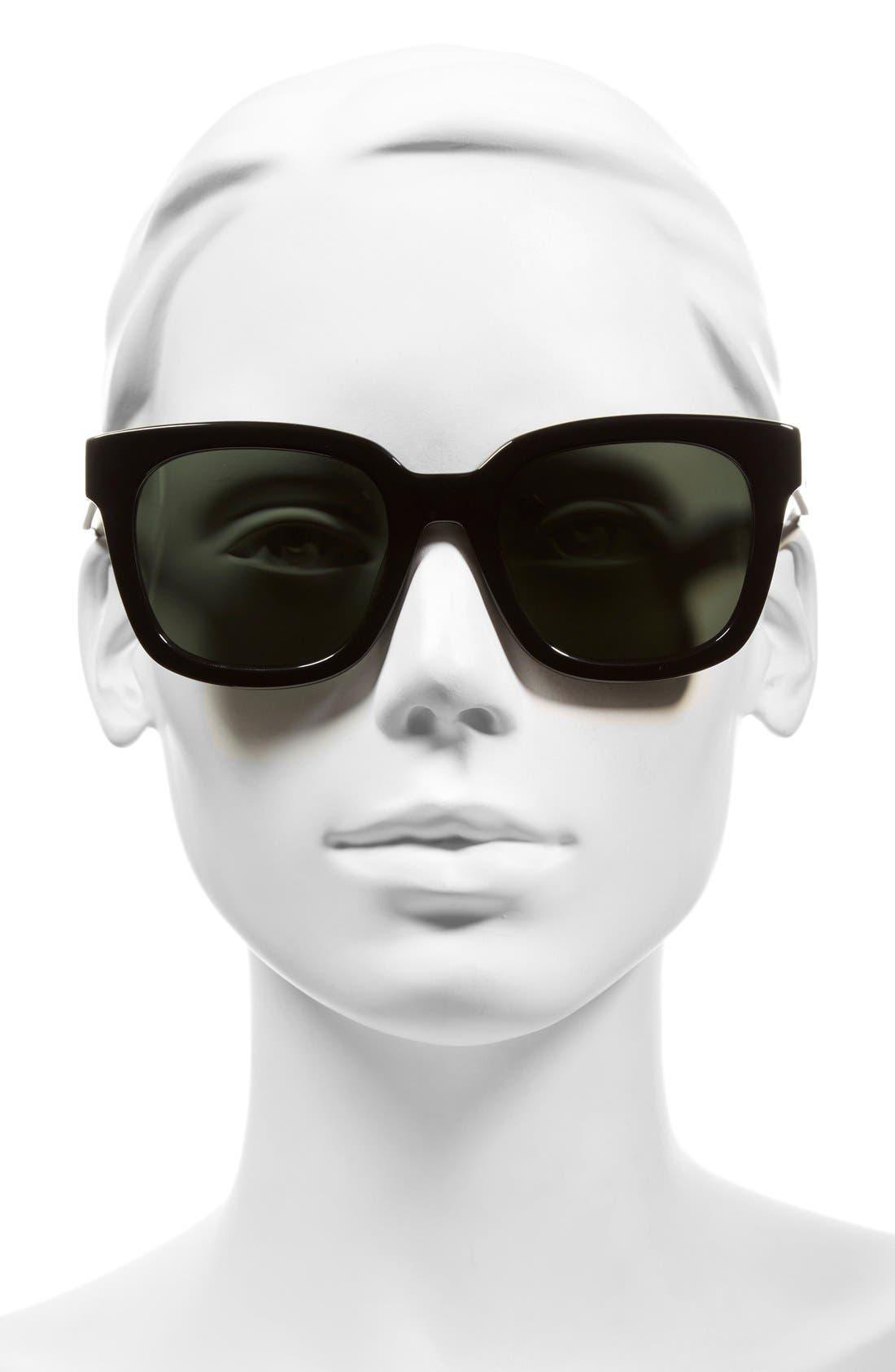 54mm Retro Sunglasses,                             Alternate thumbnail 2, color,                             001