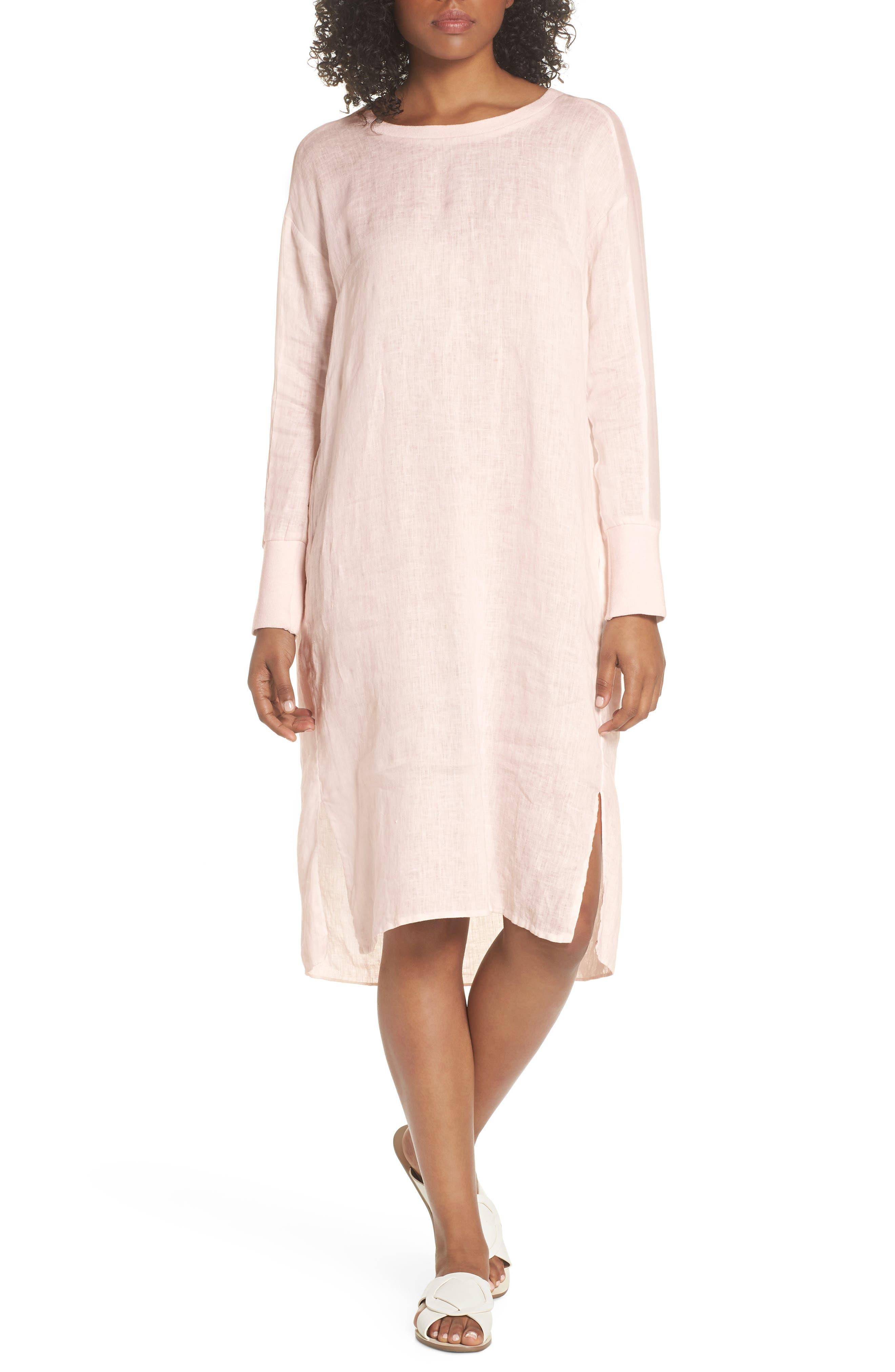 Rata Linen Shift Dress,                         Main,                         color, 680